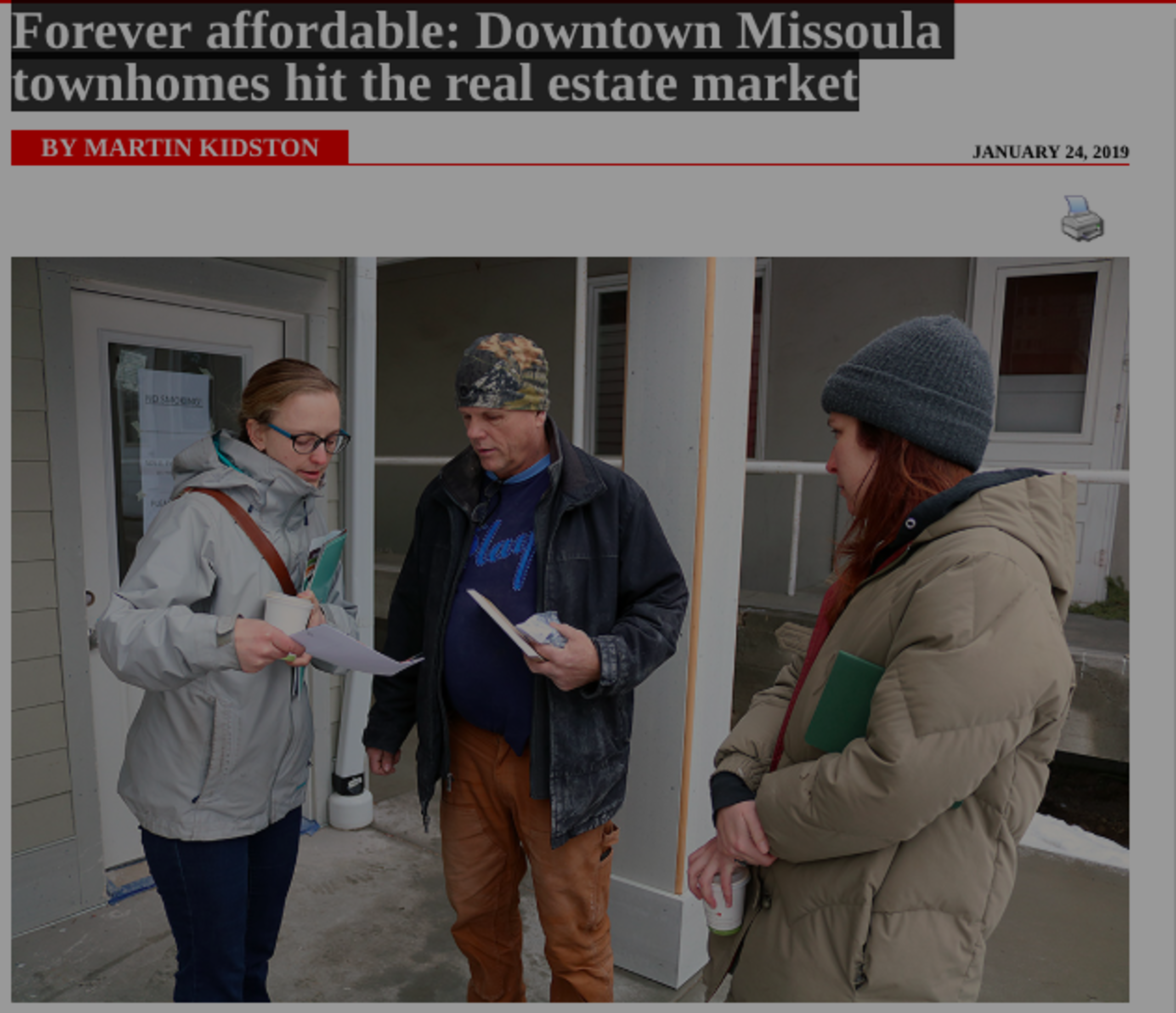 Forever affordable: Downtown Missoula townhomes hit the real estate market