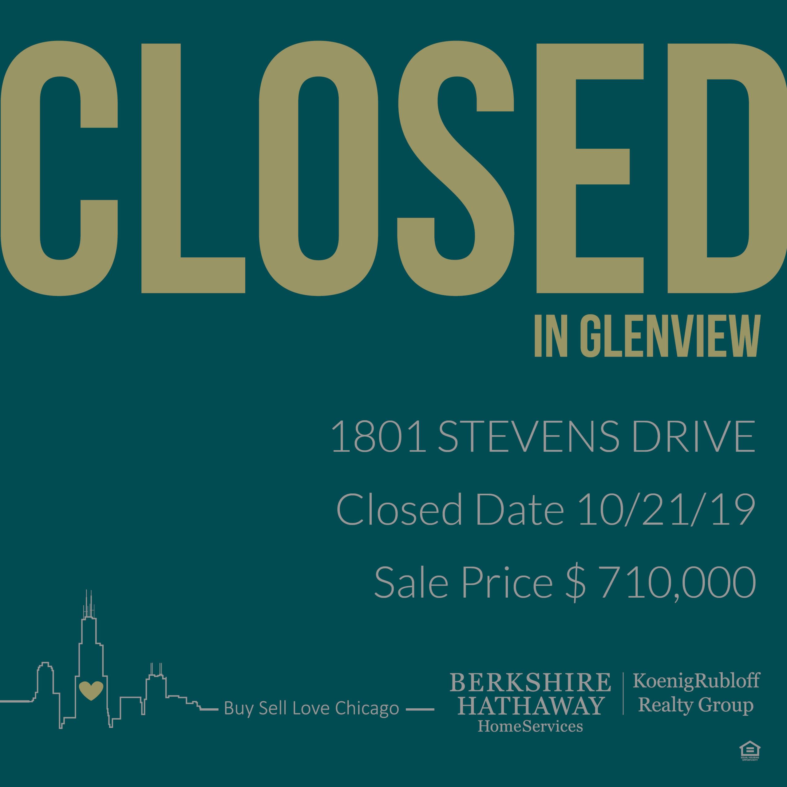 1801 Stevens Dr, Glenview, IL 60025