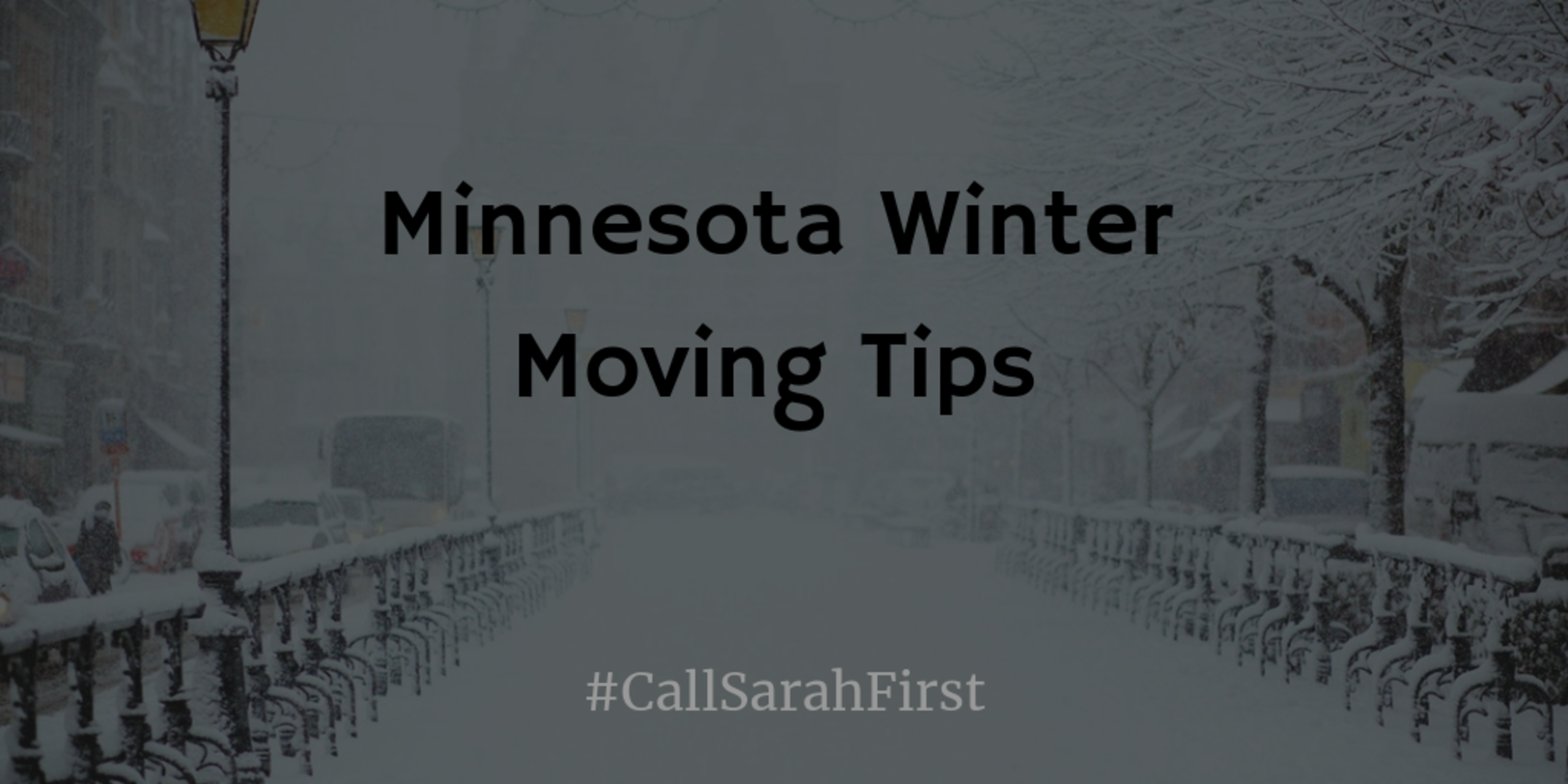 Minnesota Winter Moving Tips