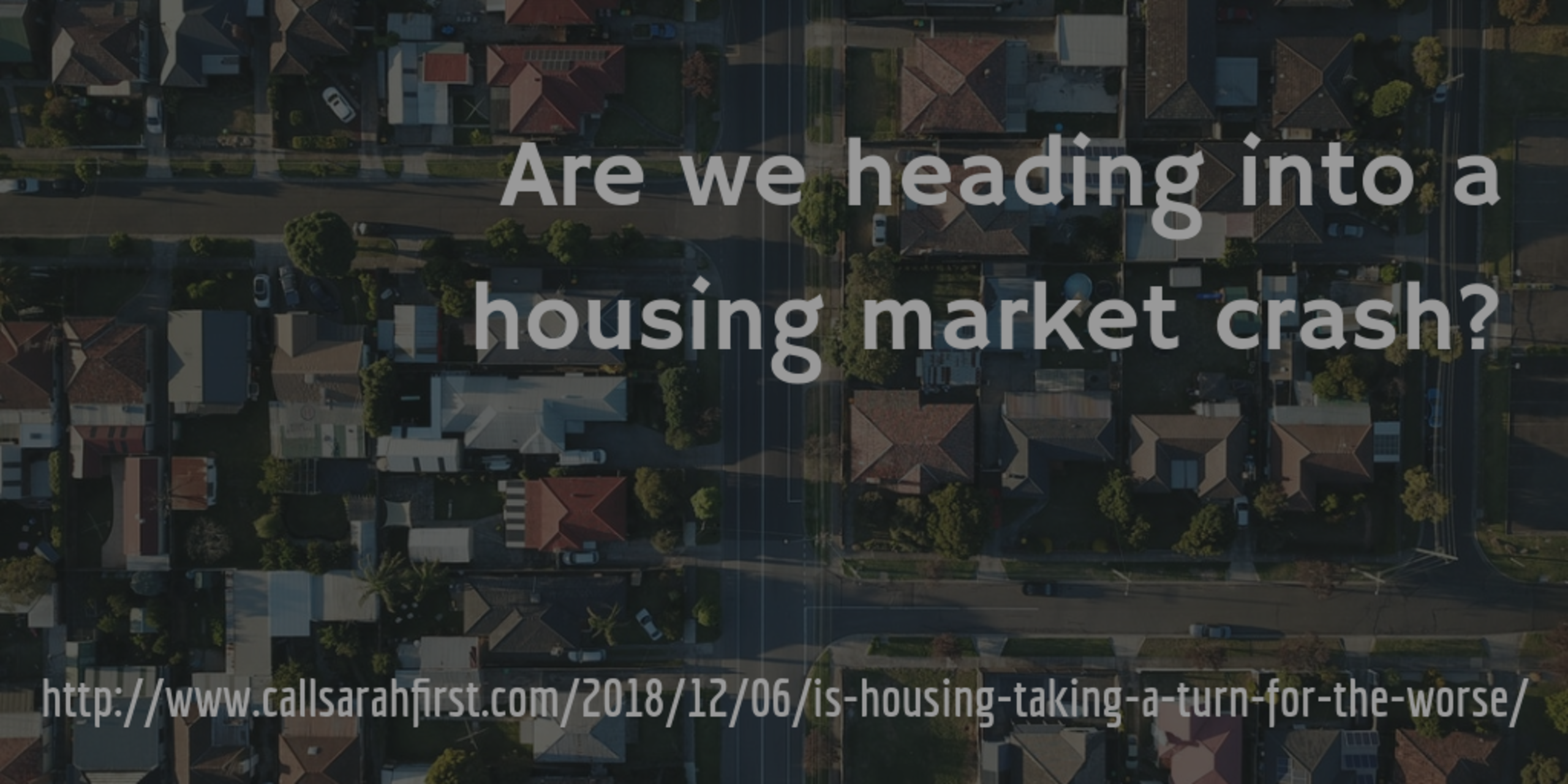 Is housing taking a turn for the worse?