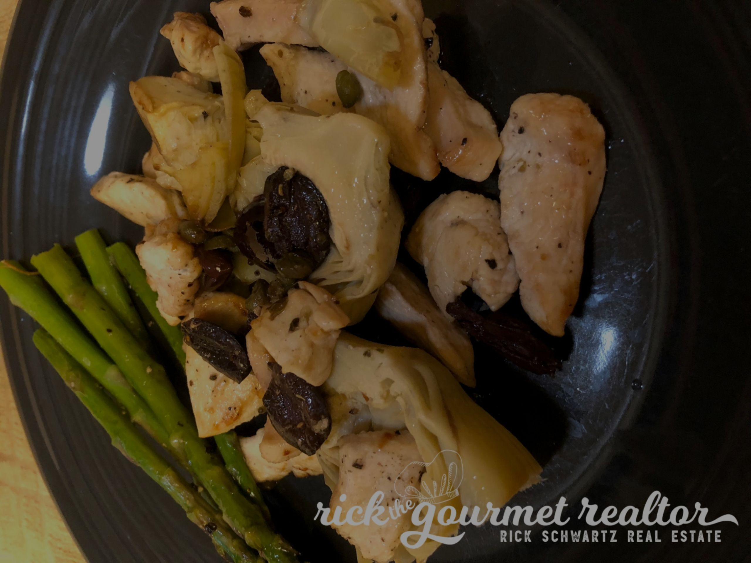 Lemony Chicken with Artichoke & Olives