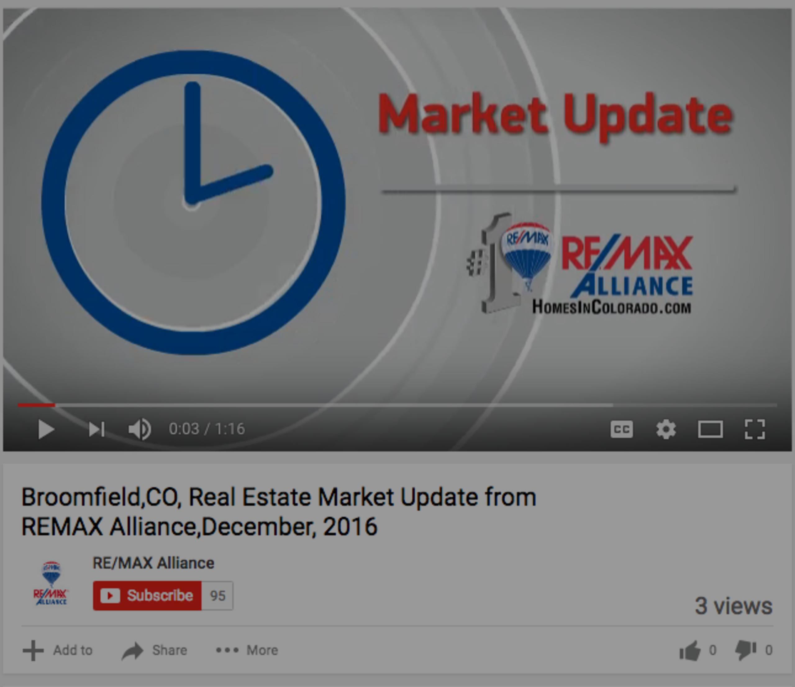 Broomfield Real Estate Market Update December 2016