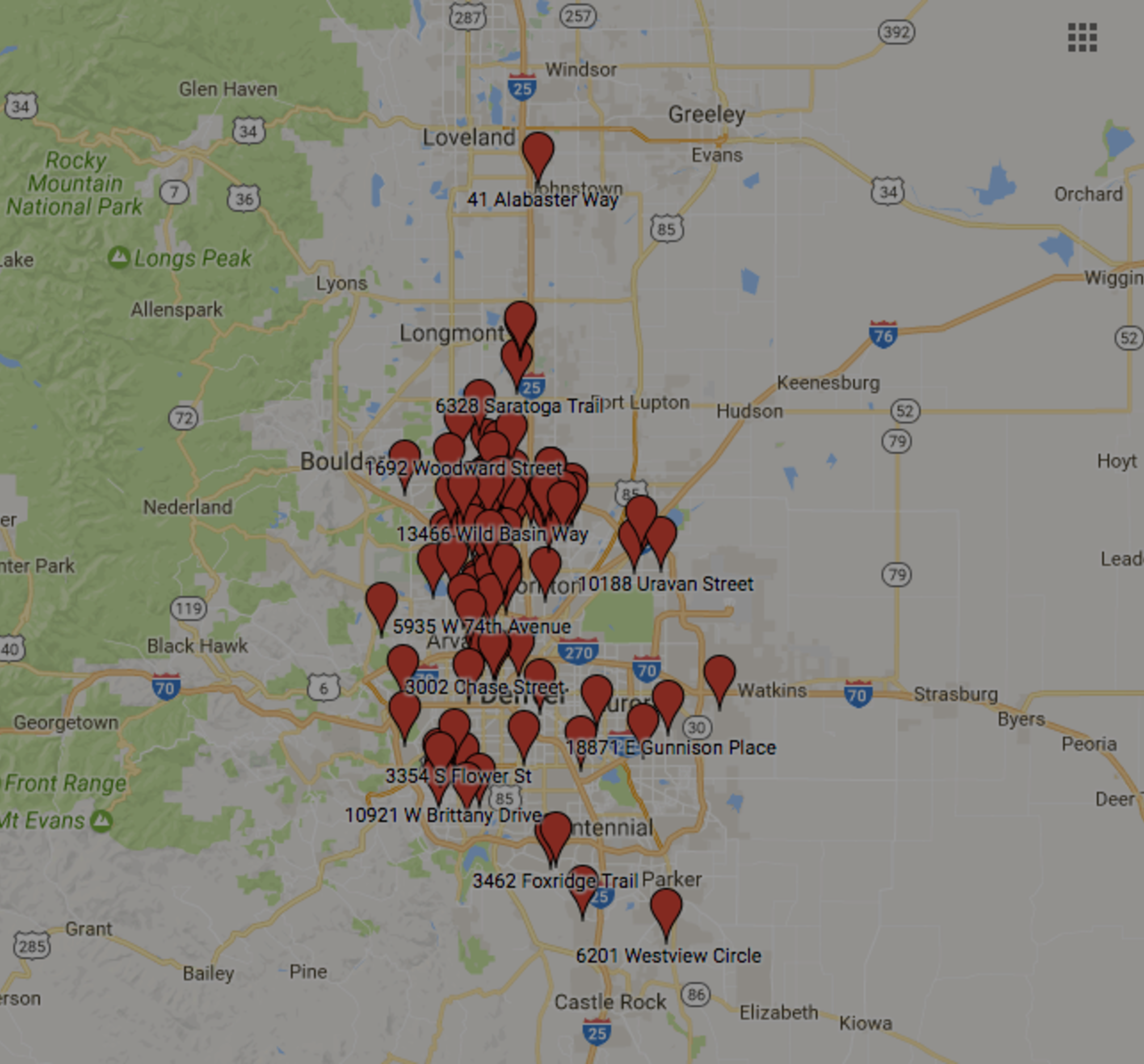 Map of Recent Homes Sold by the O'Brien Real Estate Group at RE/MAX Alliance