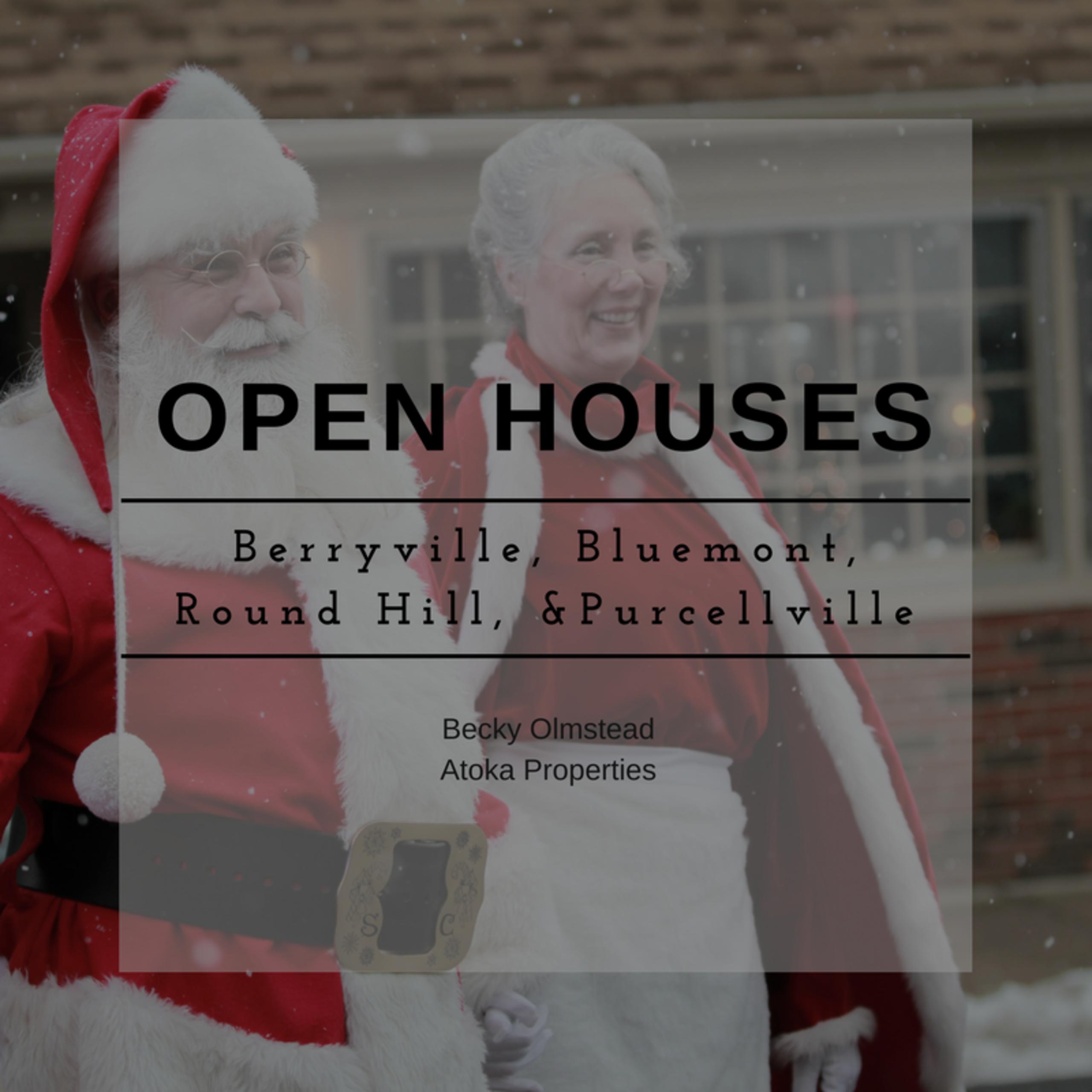 OPEN HOUSE LIST 12/16/17 – 12/17/17