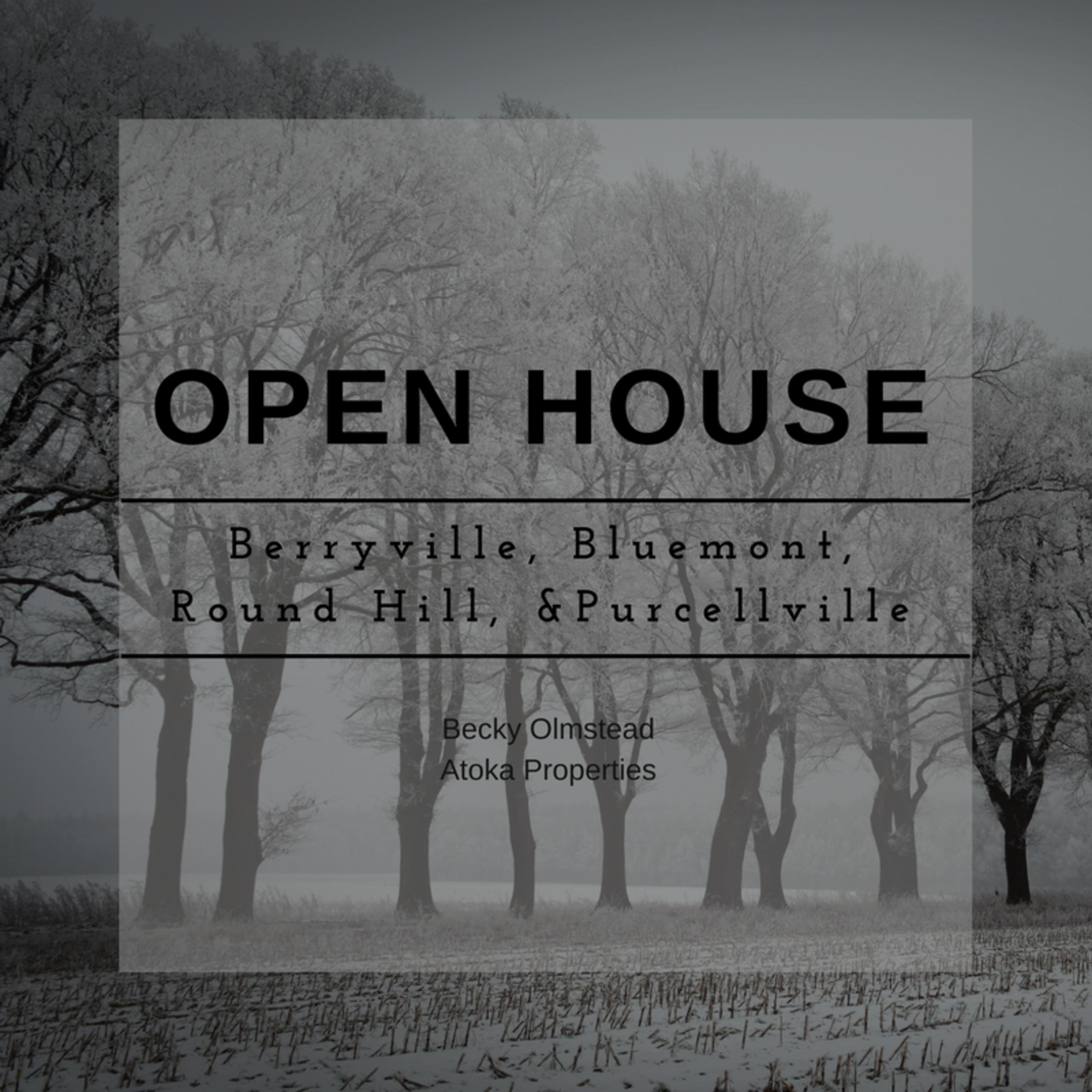 OPEN HOUSE LIST 01/13/18 – 01/14/18