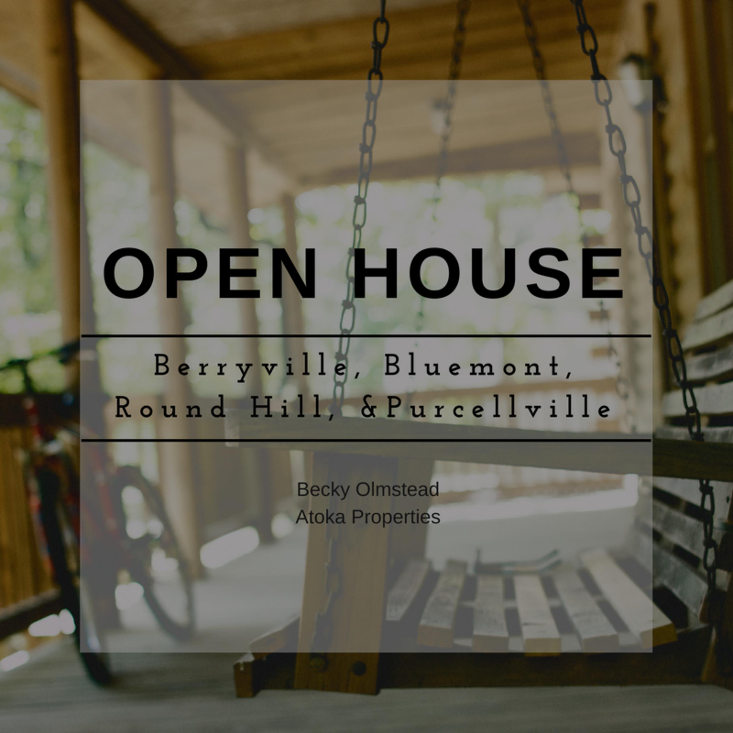 OPEN HOUSE LIST 1/20/18 – 1/21/18