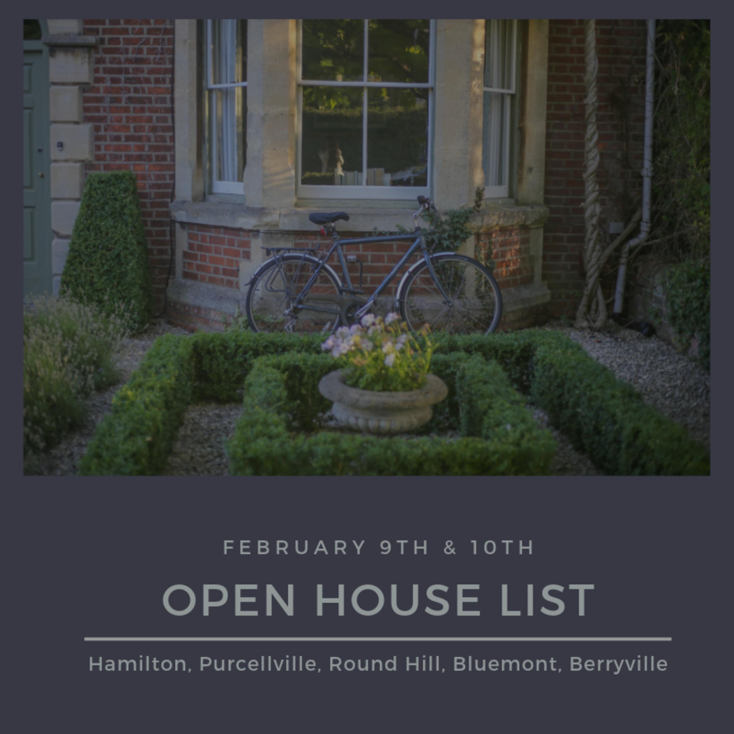 Open House List 2/9/19 – 2/10/19