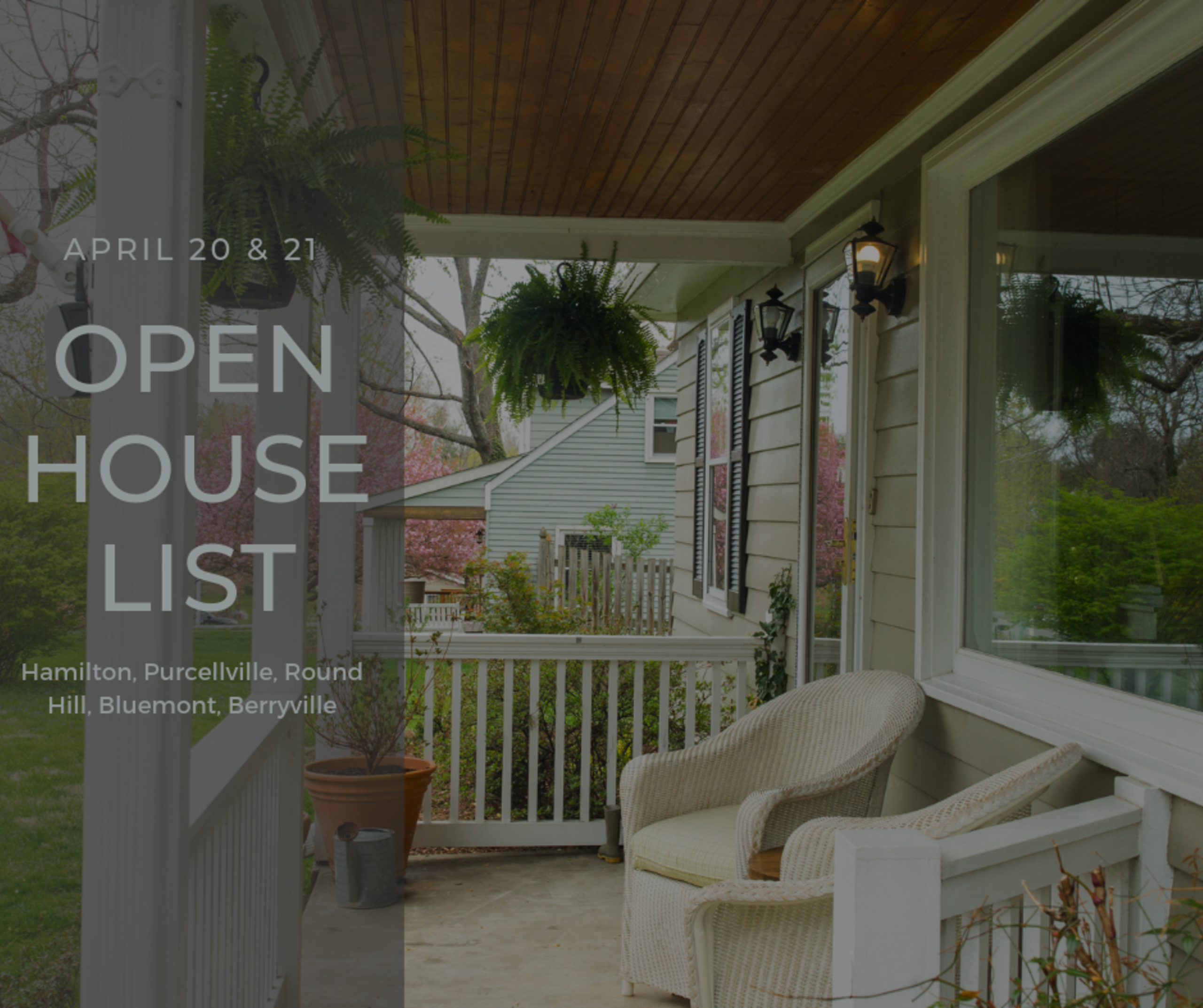 Open House List 4/20/19 – 4/20/19