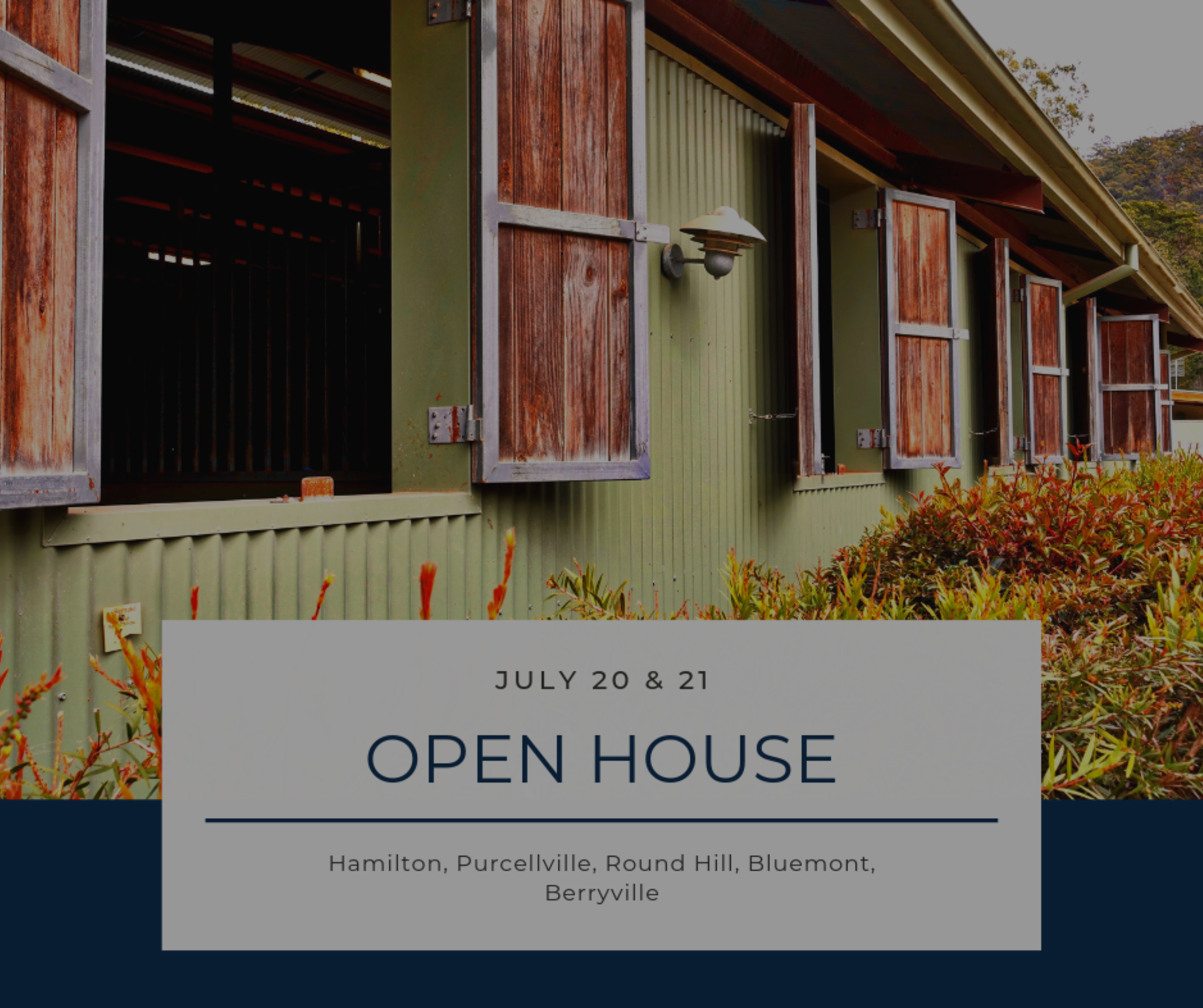Open House List 7/20/19 – 7/21/19