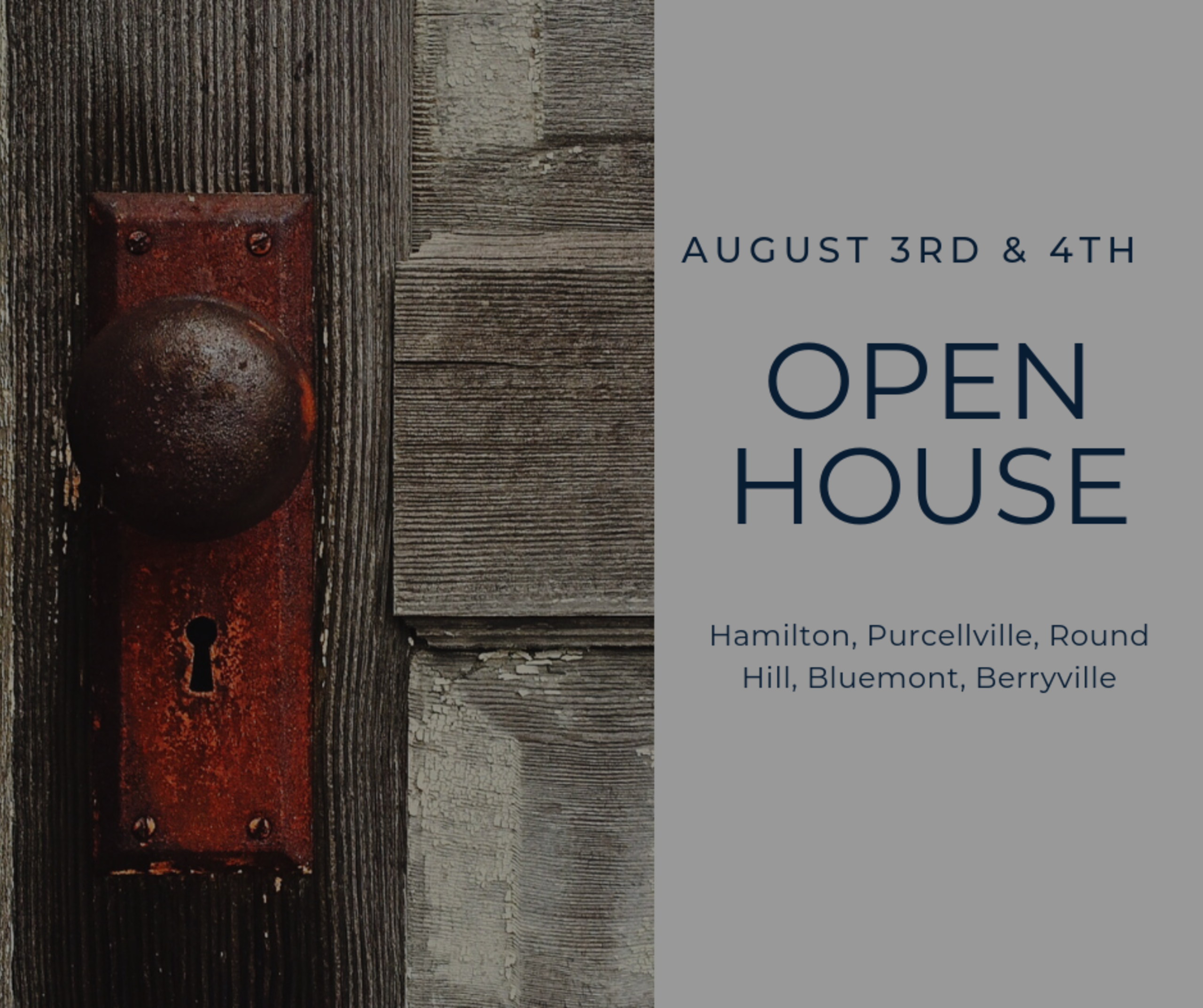 Open House List 8/3/19 – 8/4/19