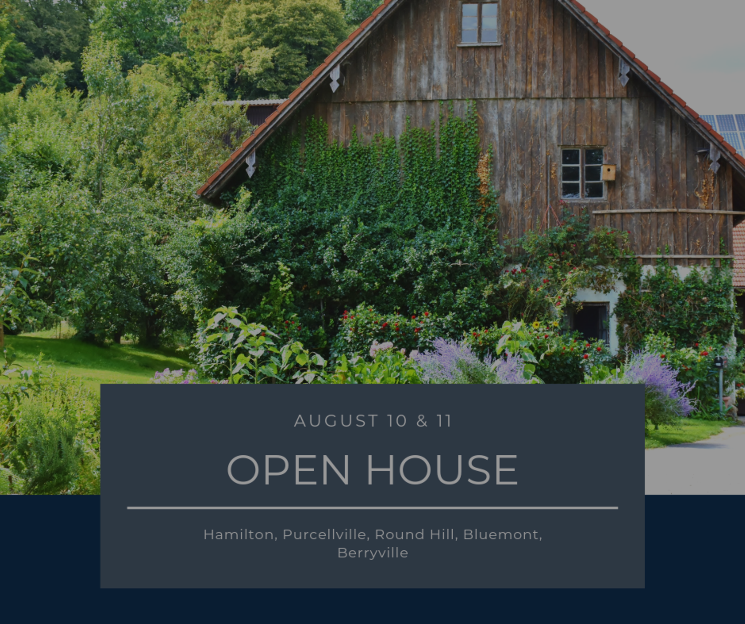 Open House List 8/10/19 – 8/11/19