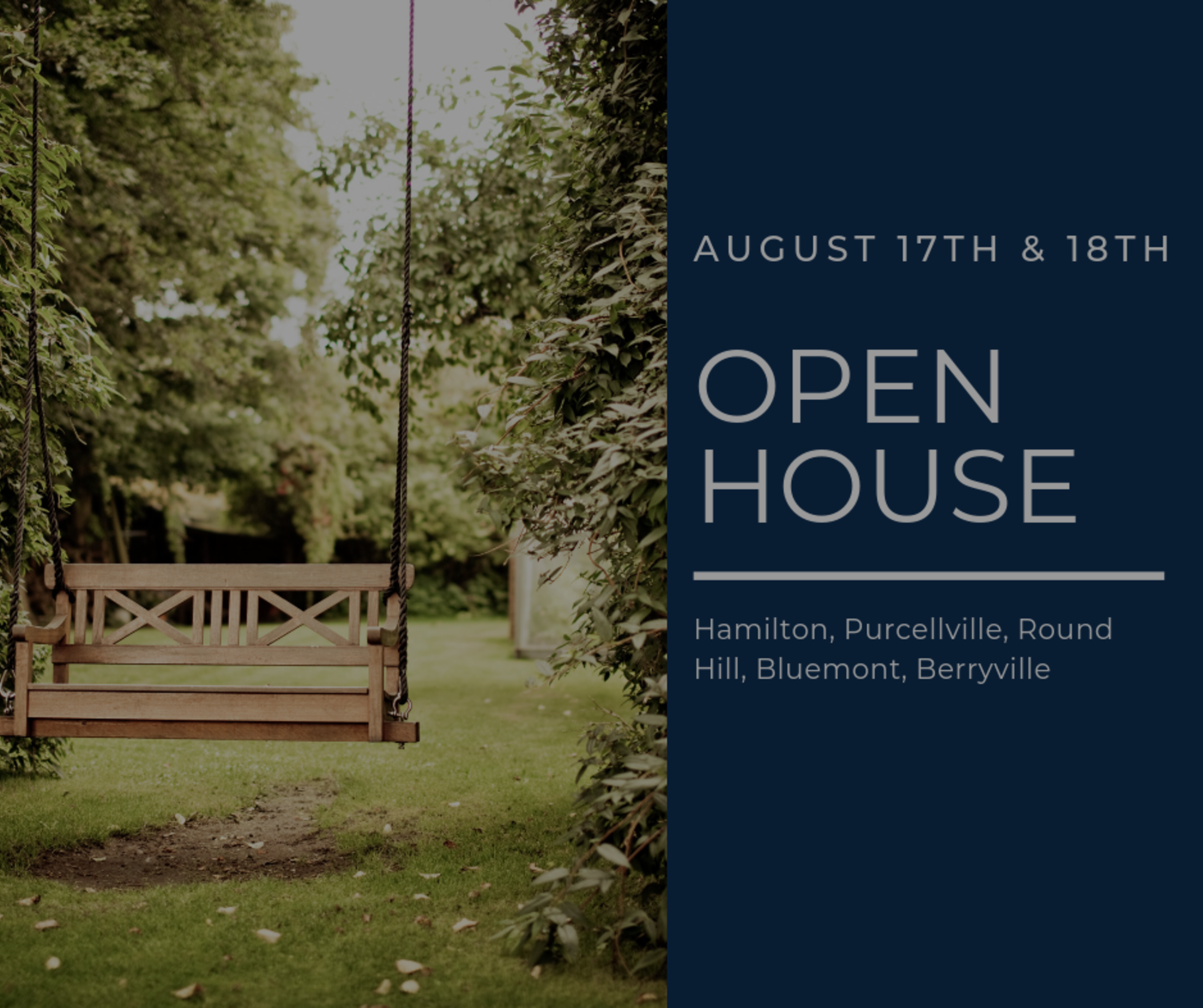 Open House List 8/17/19 – 8/18/19