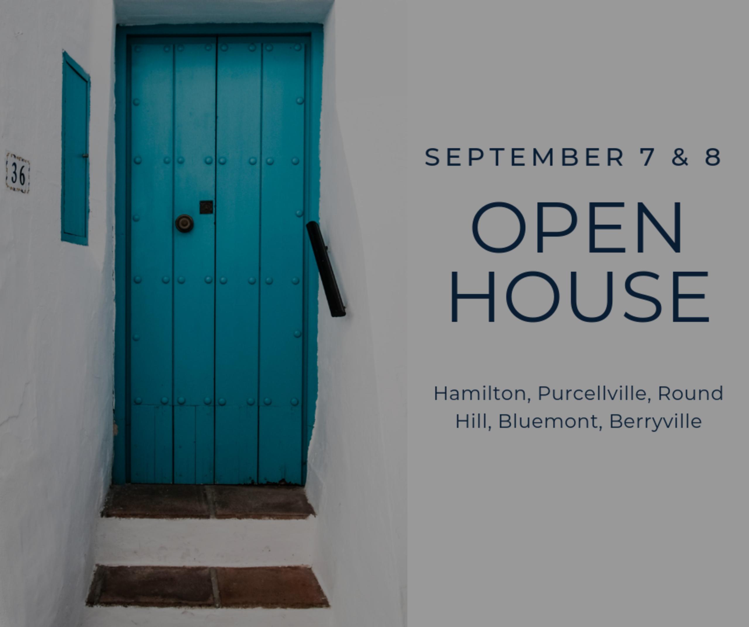 Open House List 9/7/19 – 9/8/19