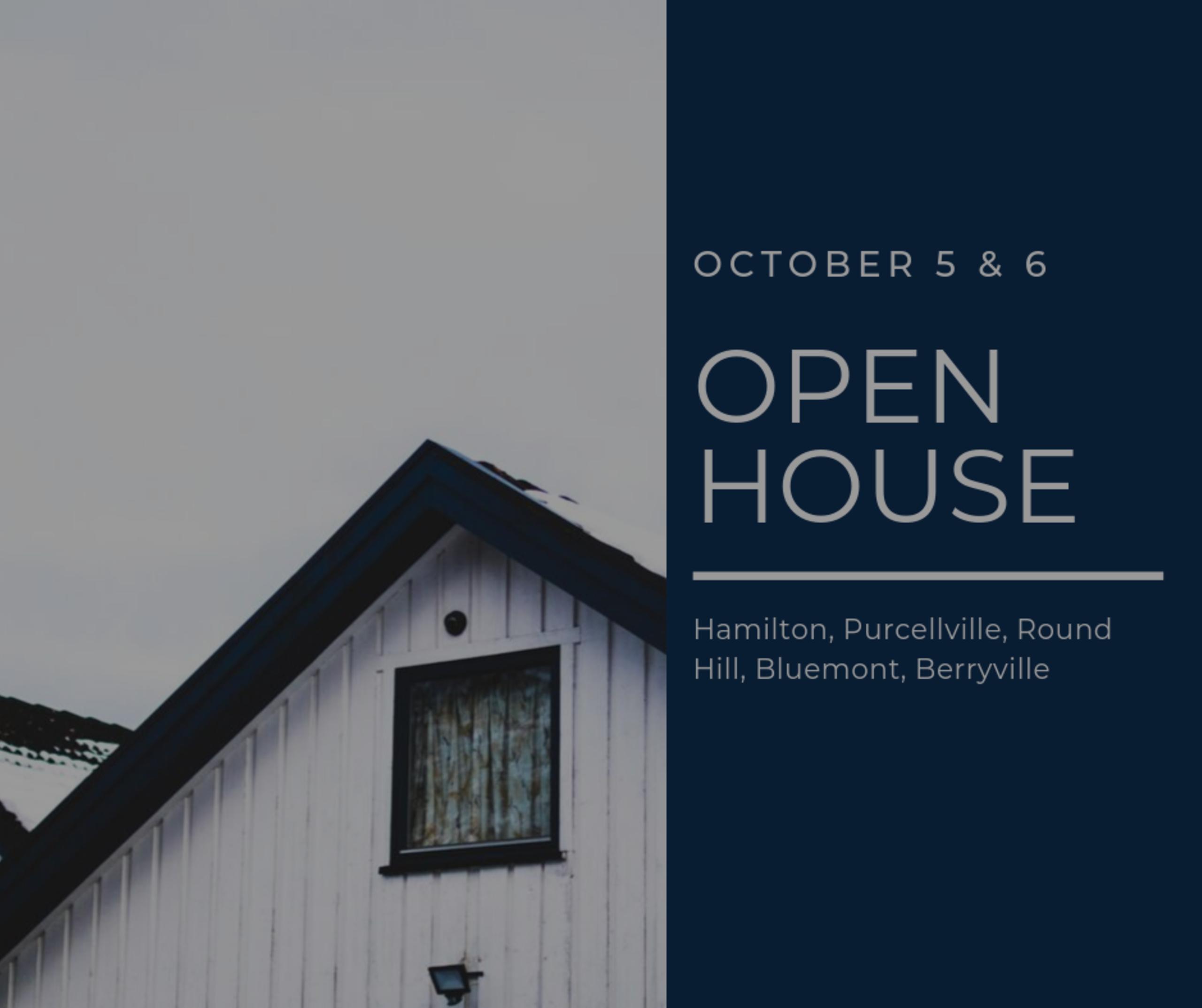 Open House List 10/4/19 – 10/5/19