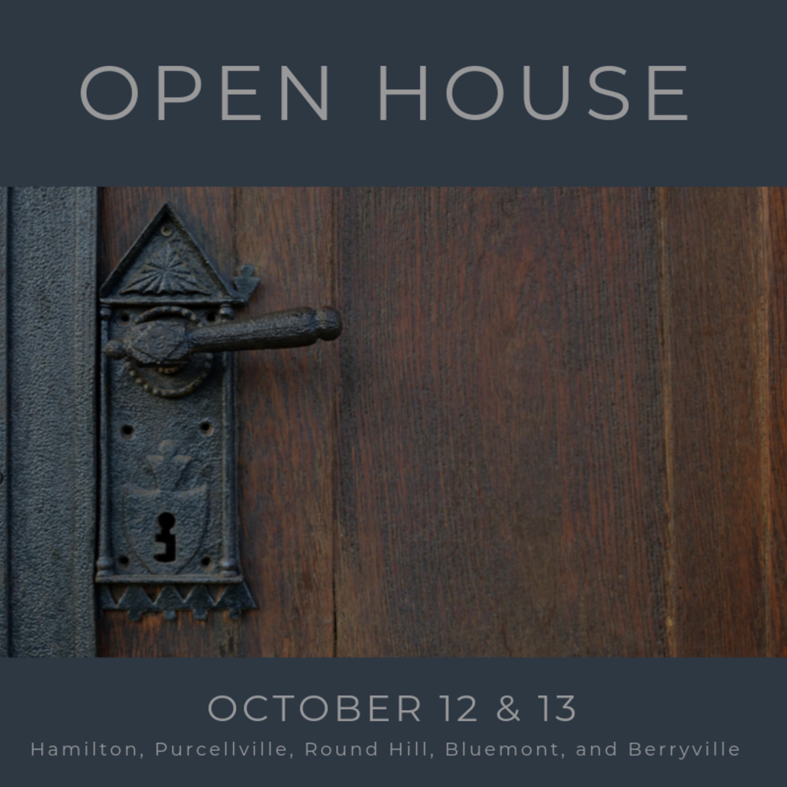 Open House List 10/12/19 – 10/13/19