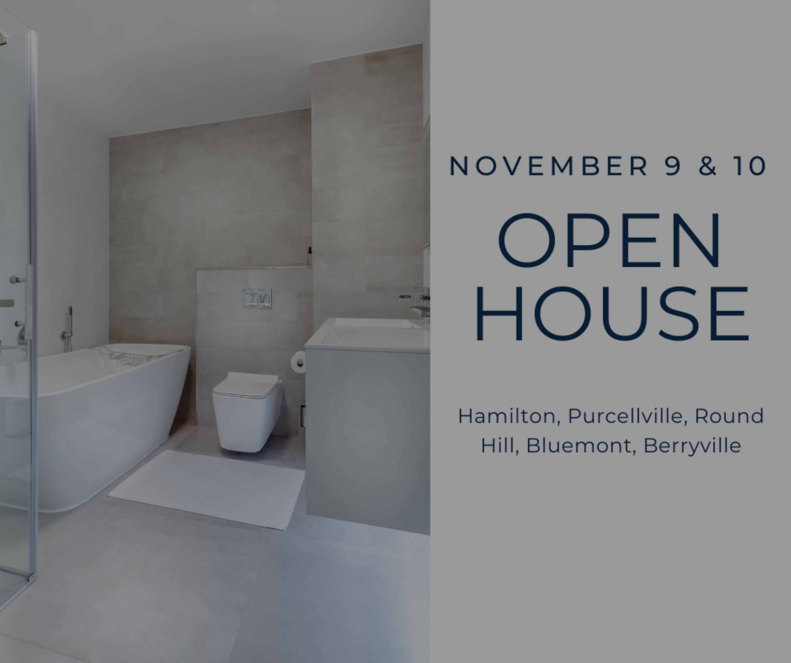 Open House List 11/9/19 – 11/10/19