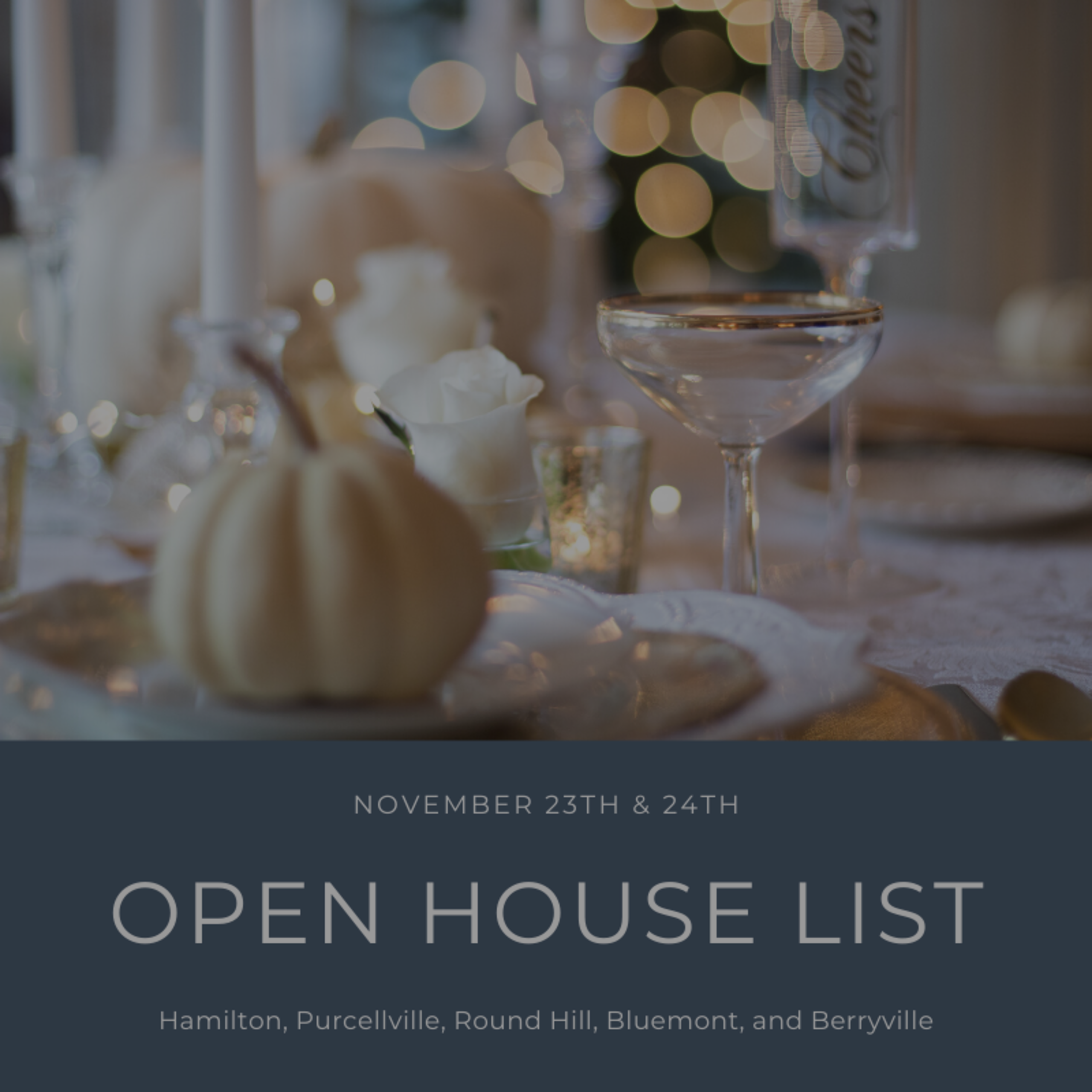 Open House List 11/23/19 – 11/24/19