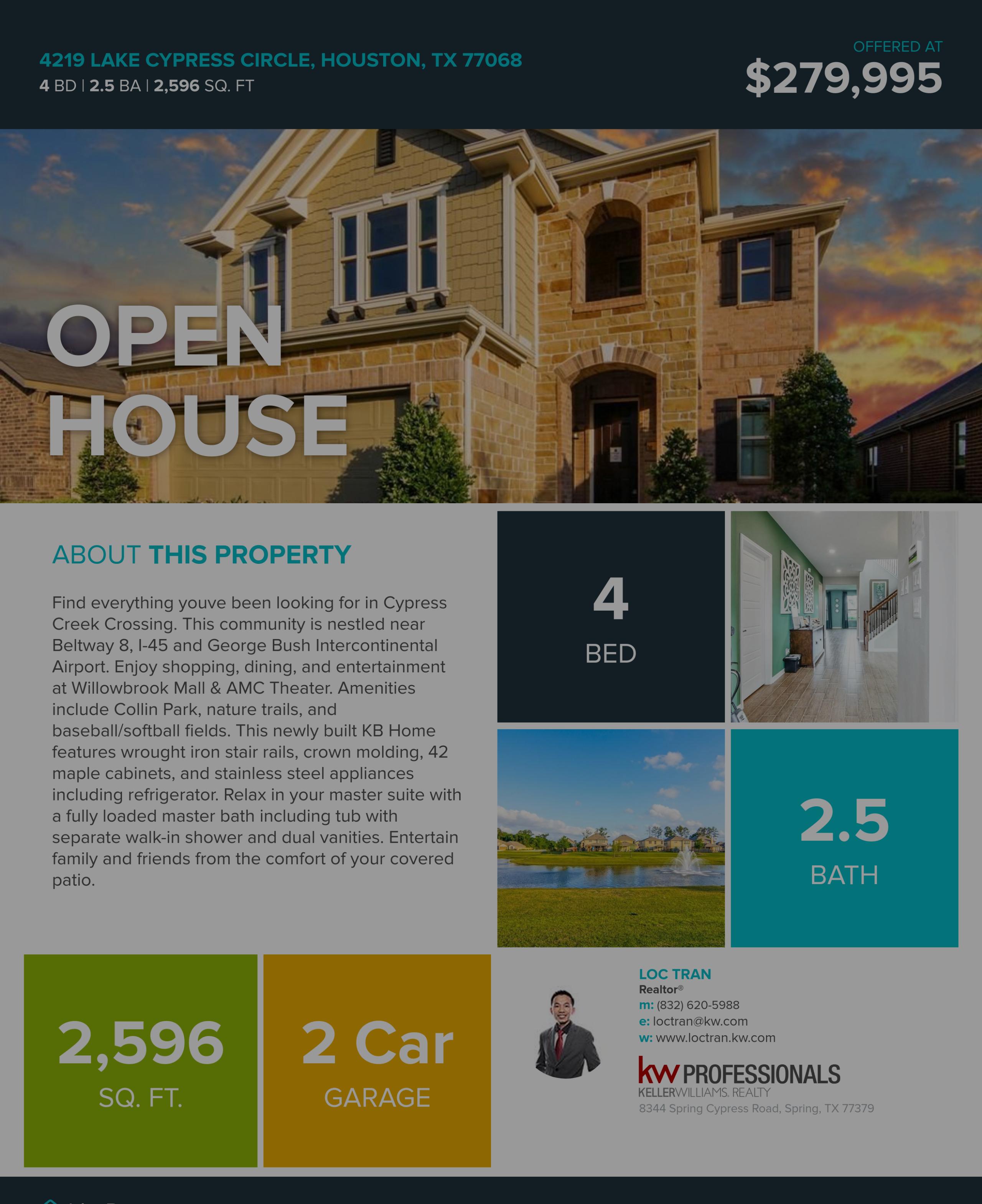 New Built Homes Open House 6/19 & 6/23