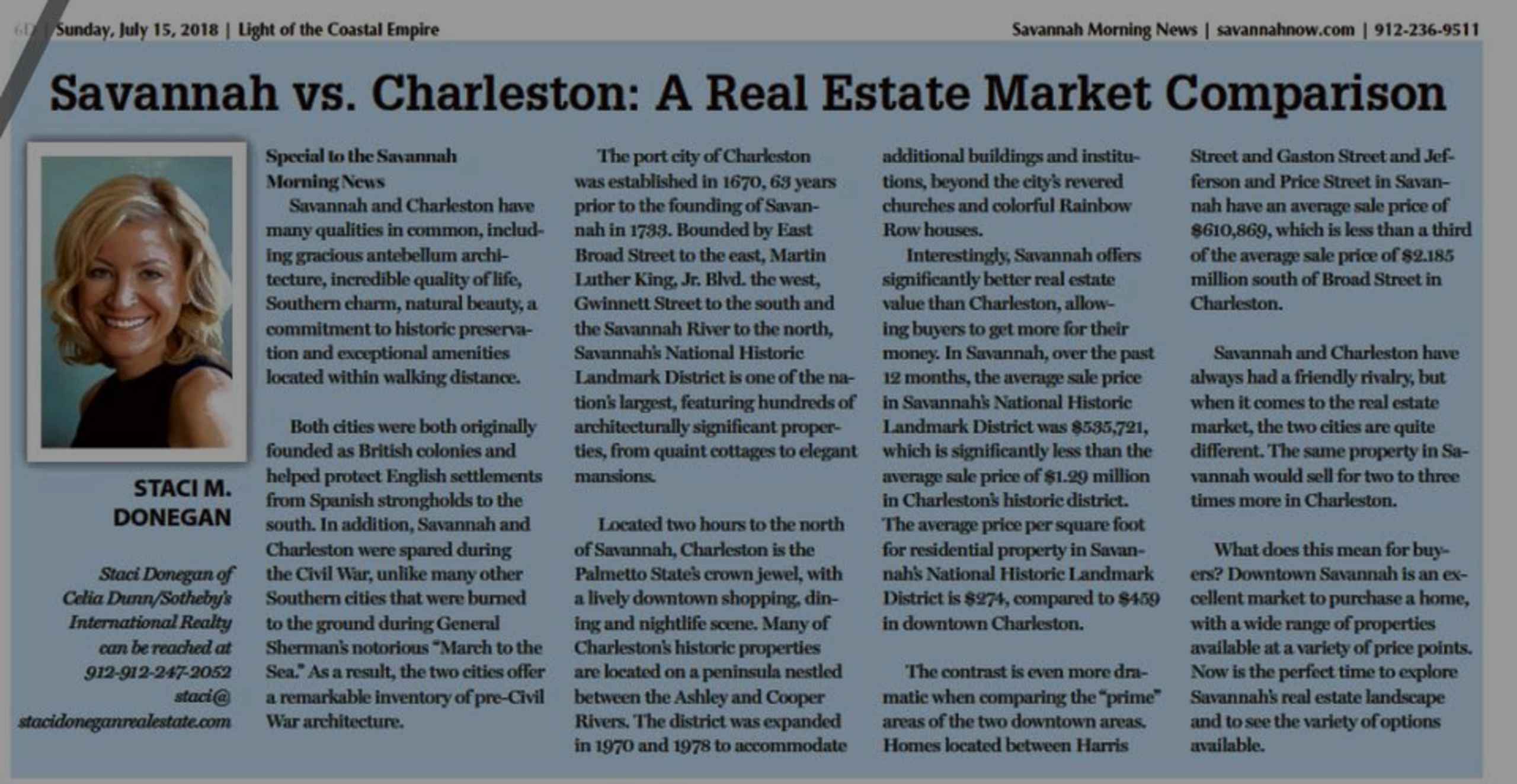 Savannah vs. Charleston: A Real Estate Market Comparison