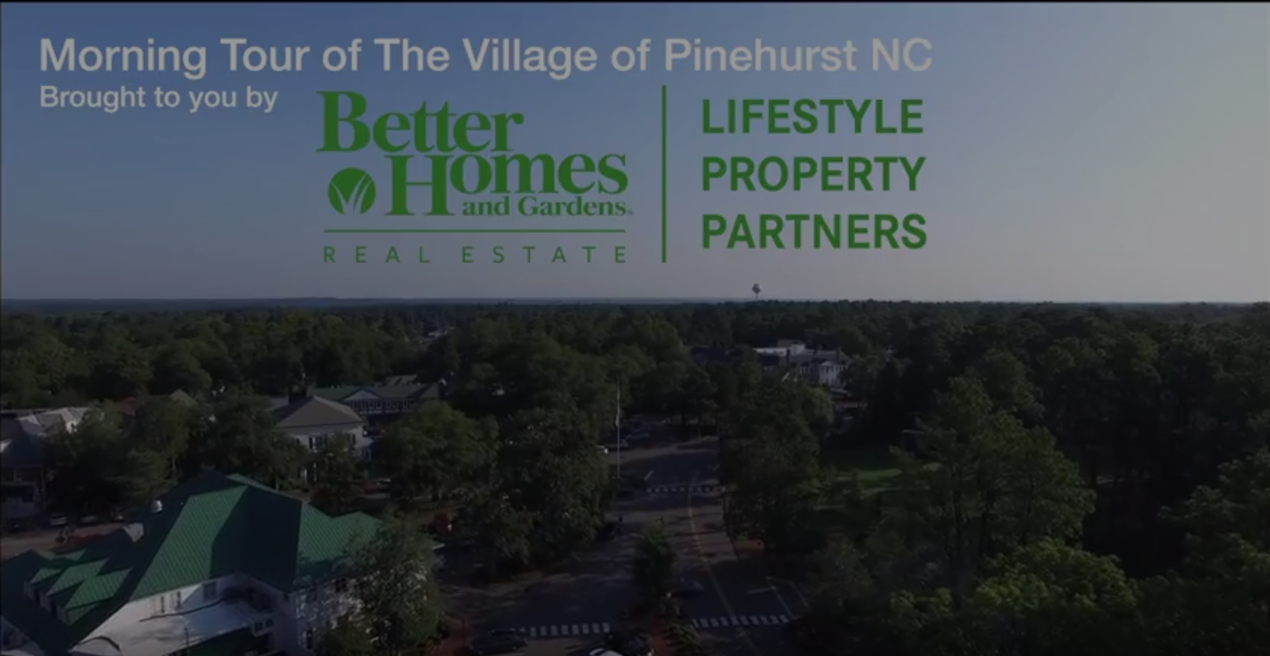 Tour of the Village of Pinehurst from the Sky