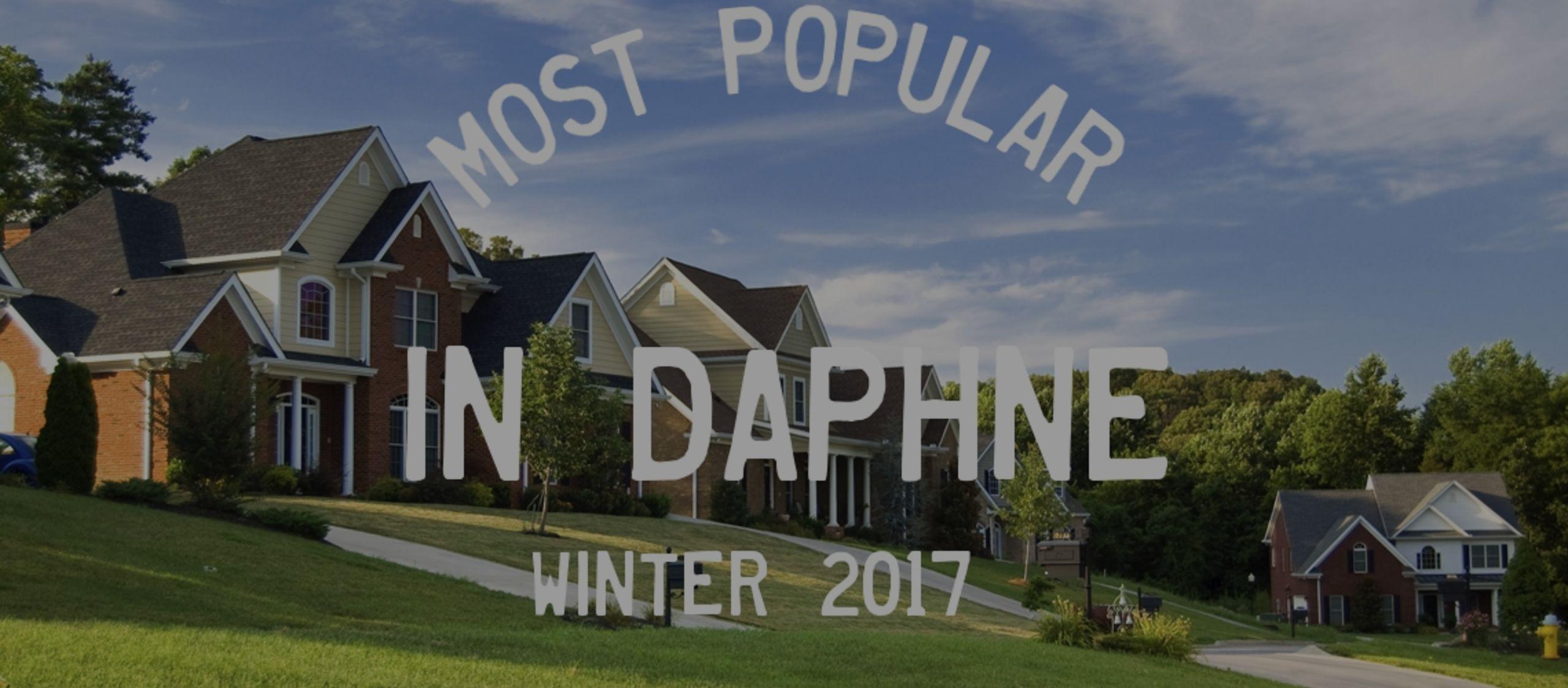 Most Popular Neighborhoods in Daphne AL – Winter 2017