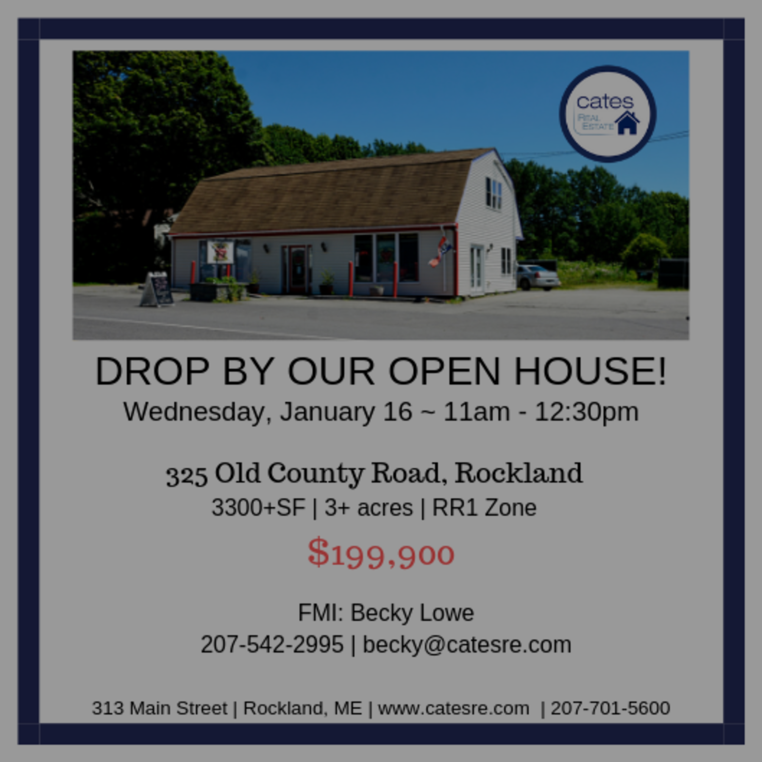Open House: 325 Old County Road, Rockland