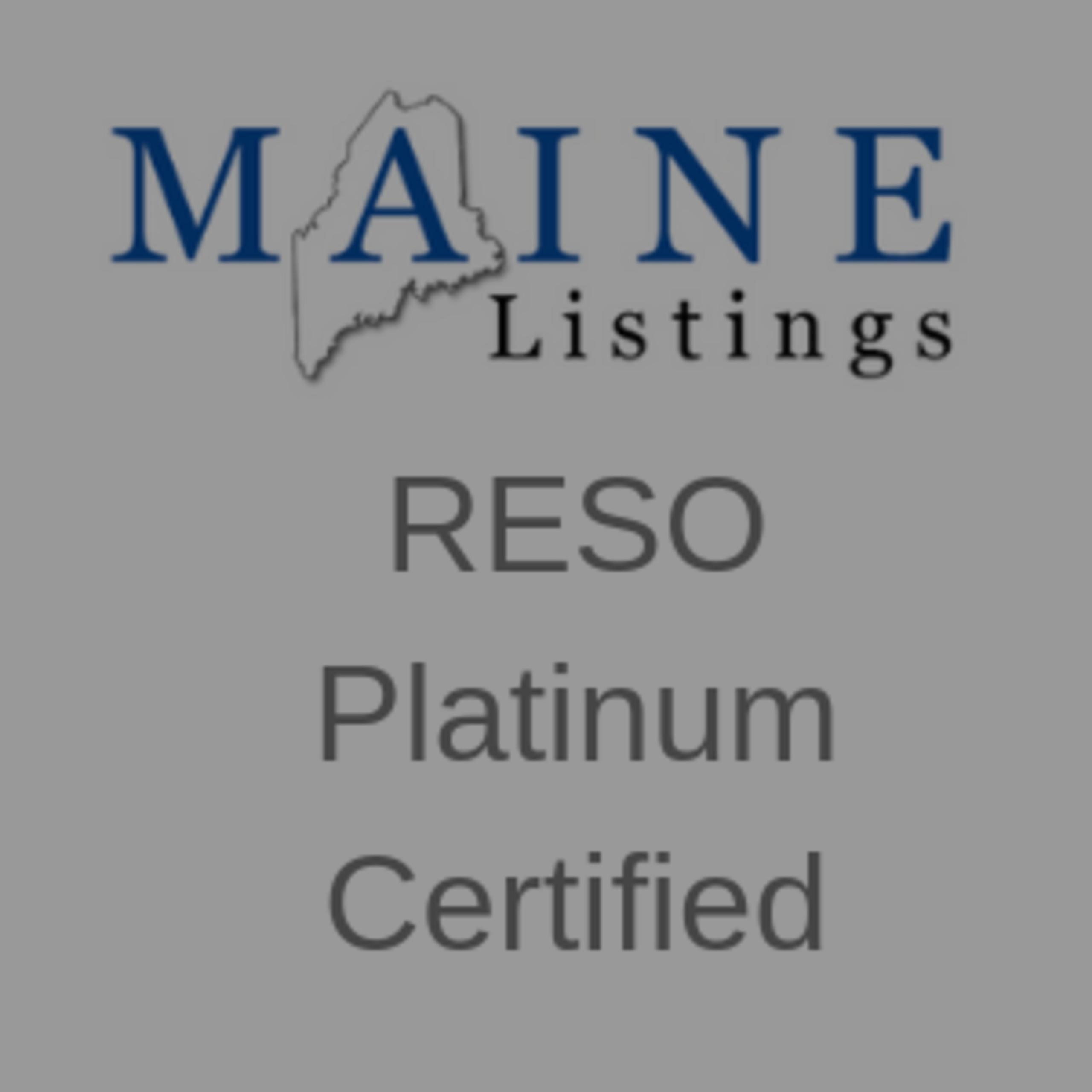 RESO Platinum Certified
