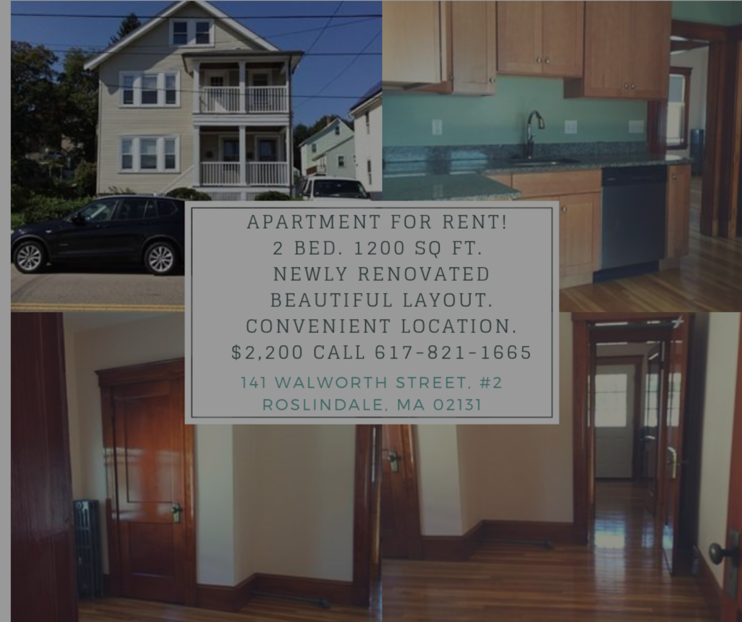 Apartment for Rent – Roslindale – Walworth Street