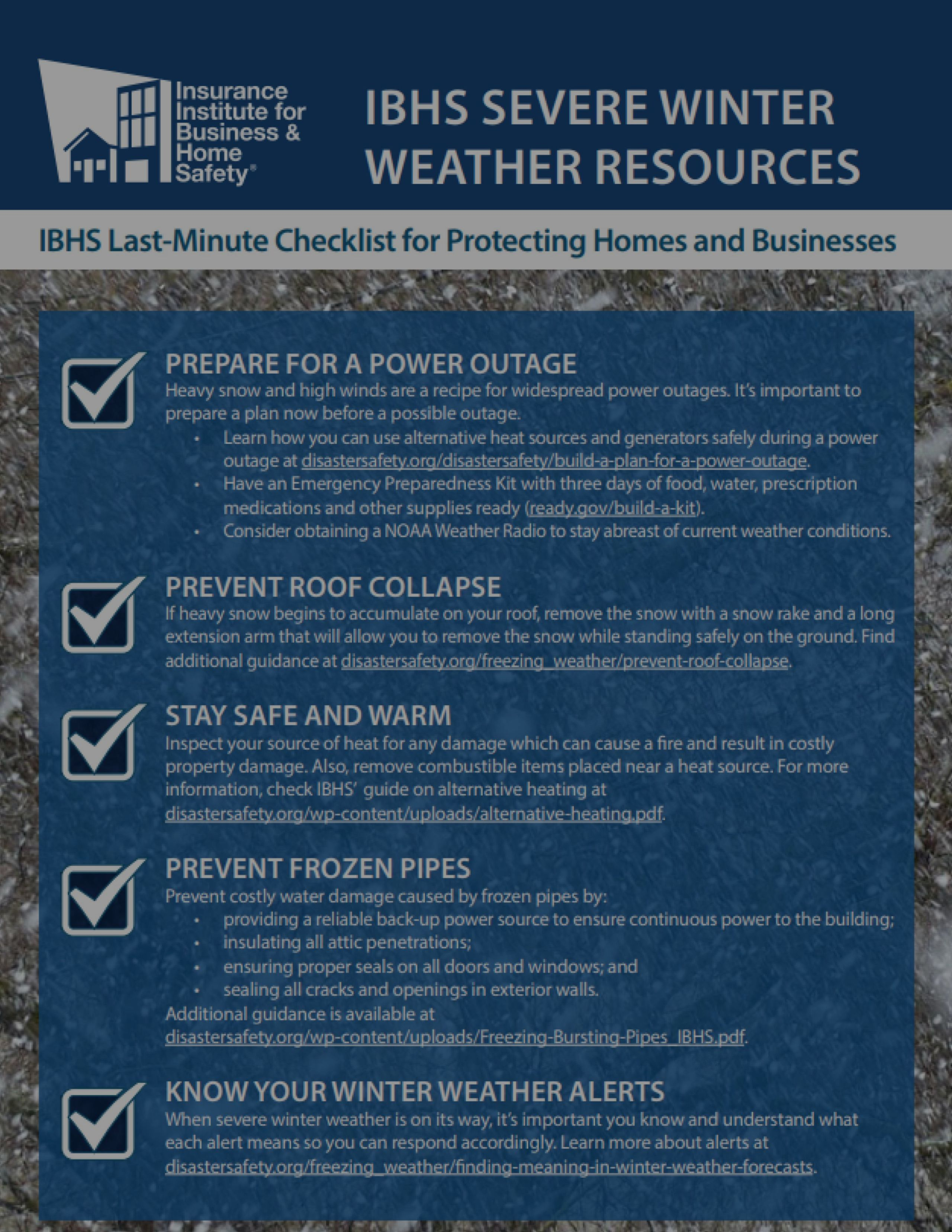 Checklist for Protecting your Home this Winter!