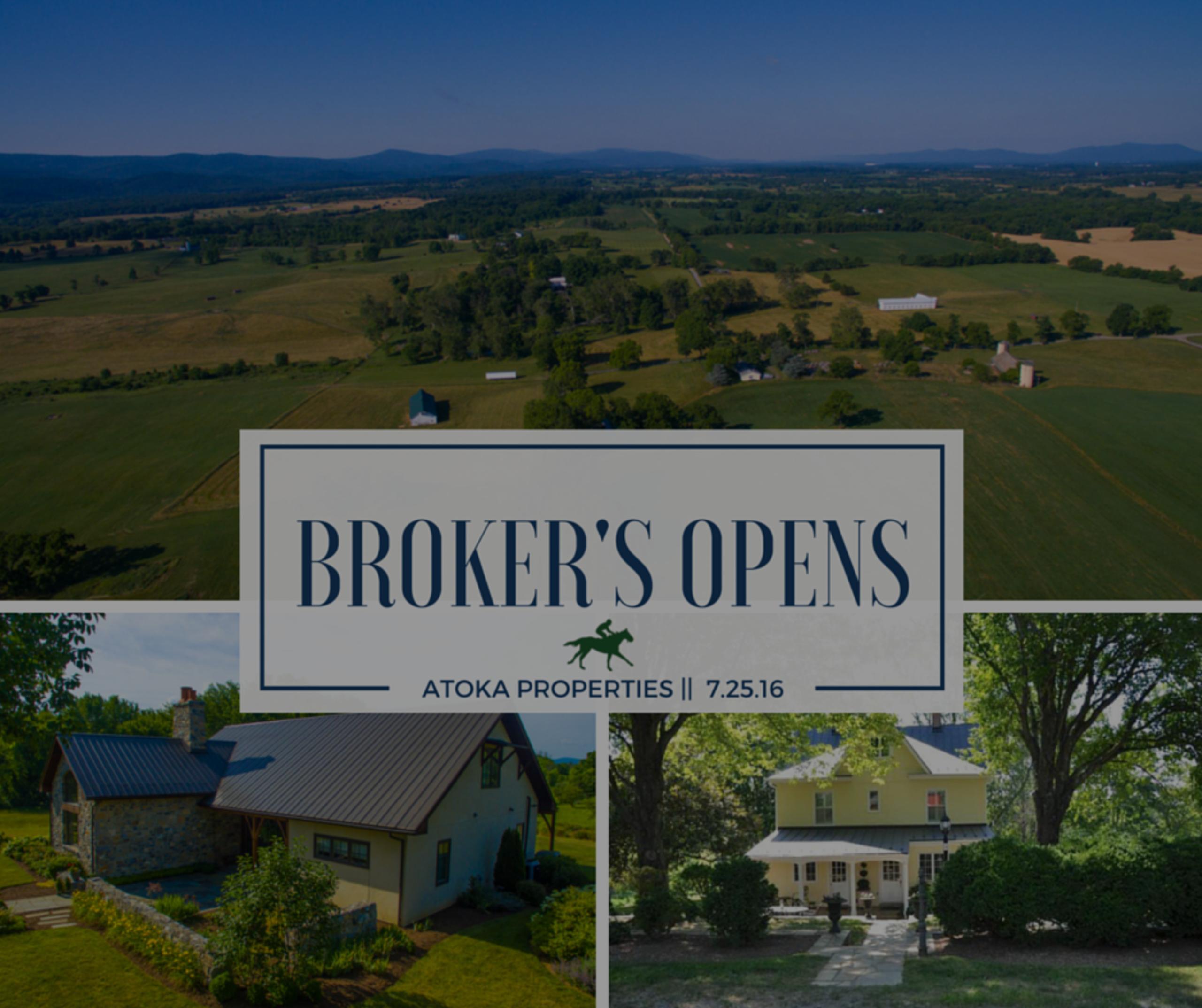 Broker's Opens | 7.26.16