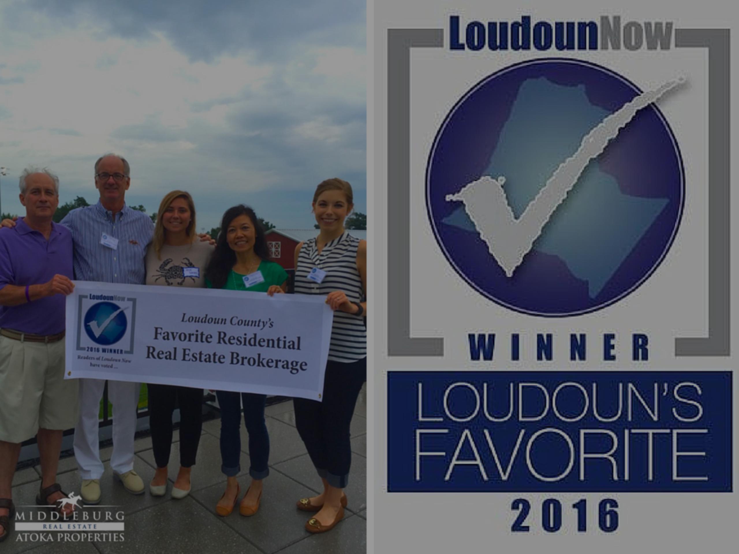 Loudoun's Favorite 2016 Residential Real Estate Brokerage!