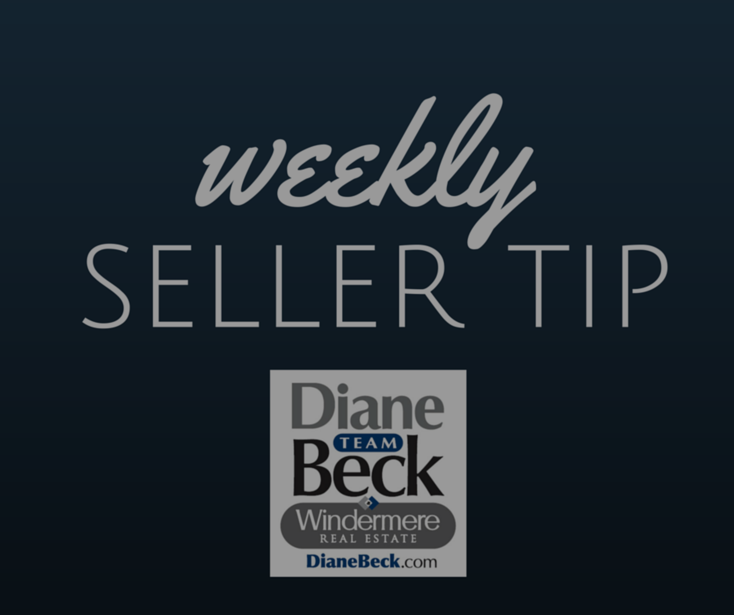 Weekly Tip for Sellers