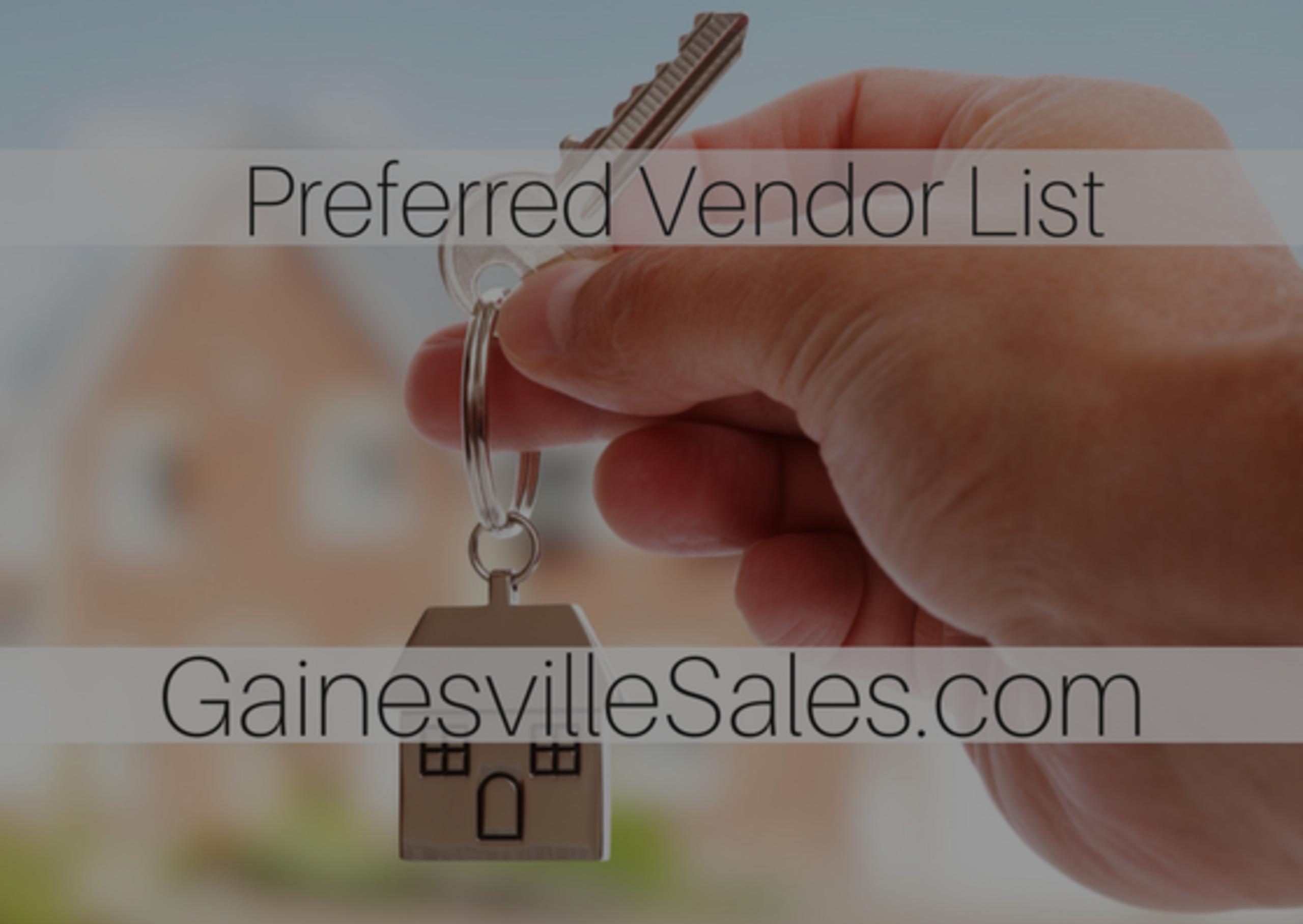The Gainesville Sales Preferred Vendors