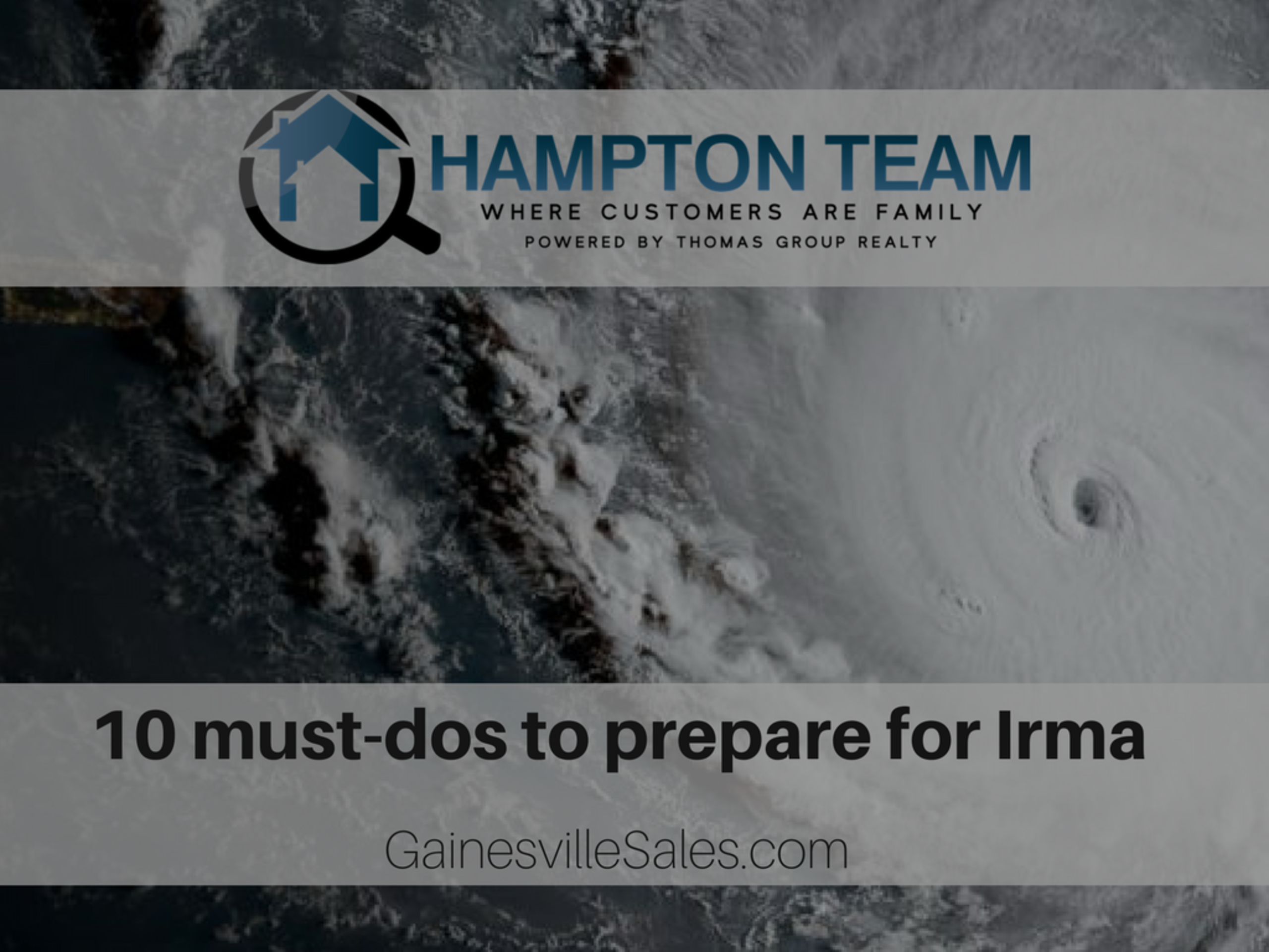 10 must-dos to prepare for Hurricane Irma