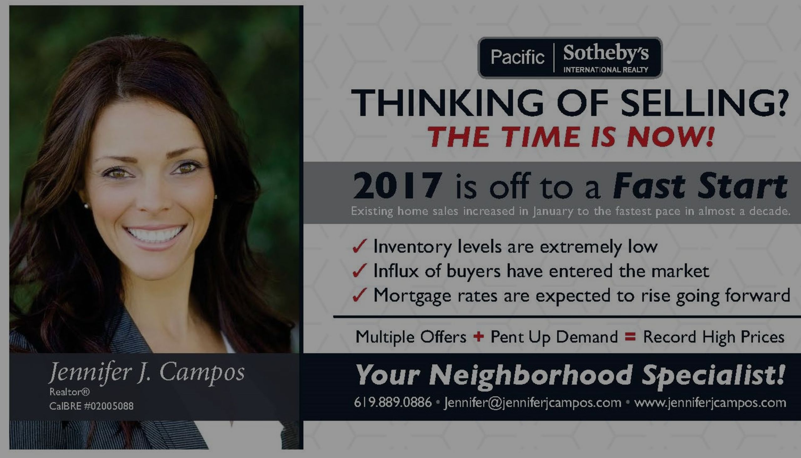 Thinking of Selling? NOW is the time!