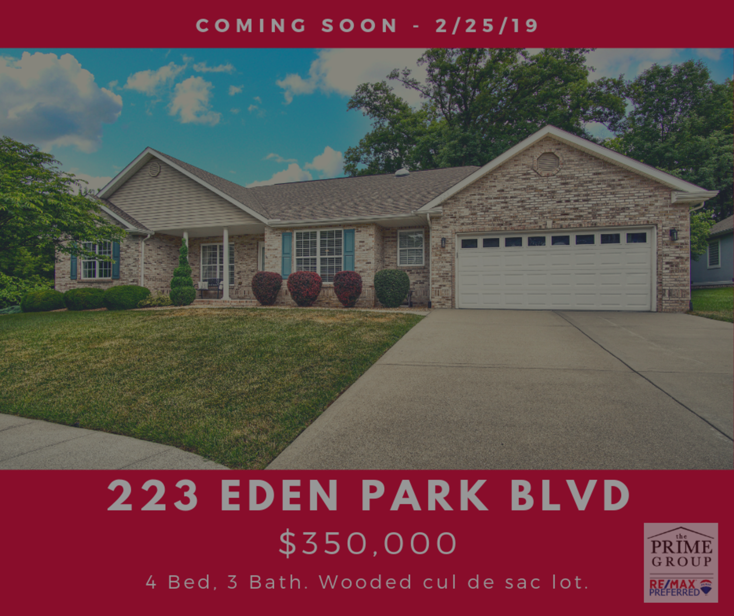 Coming Soon 223 Eden Park