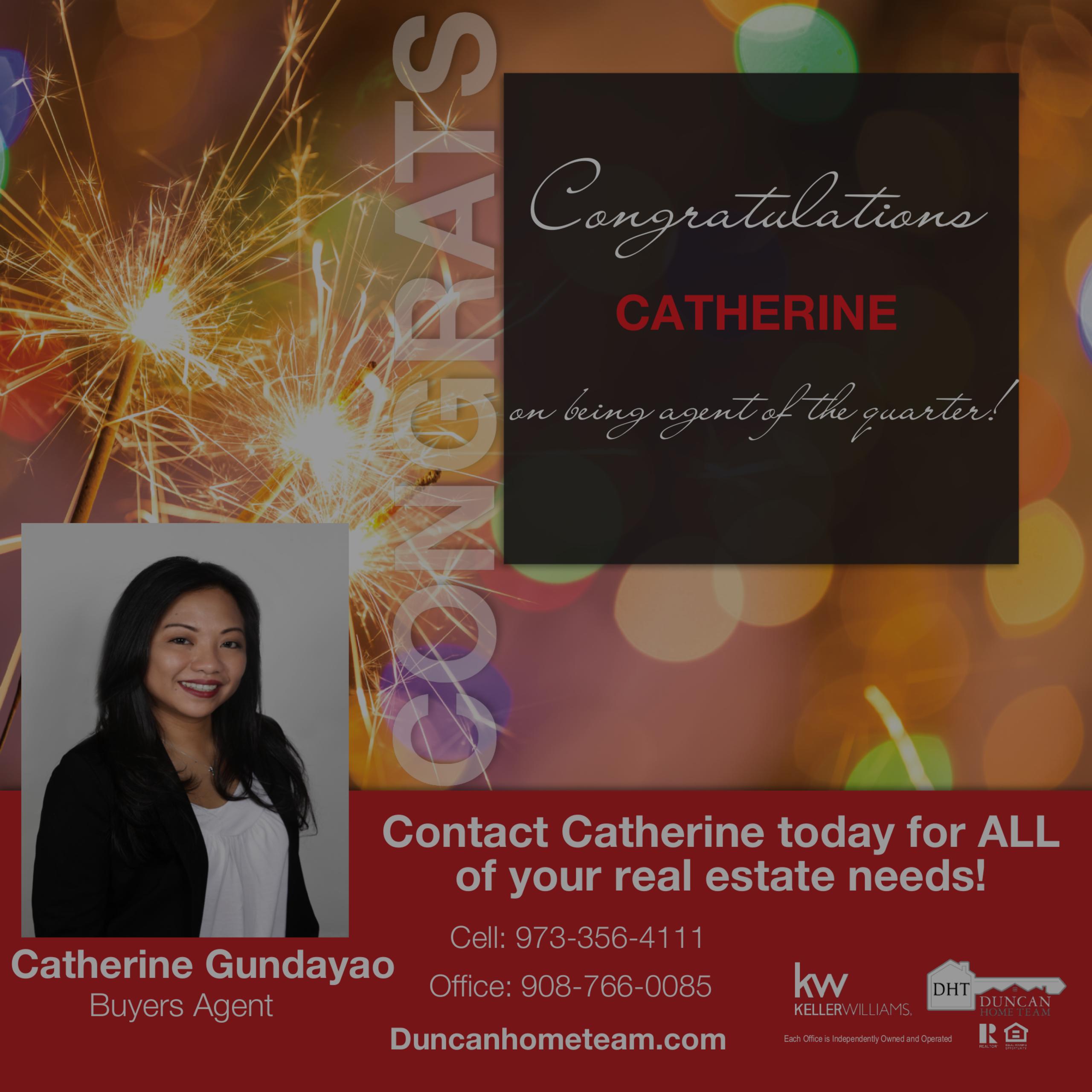 Congrats Catherine!