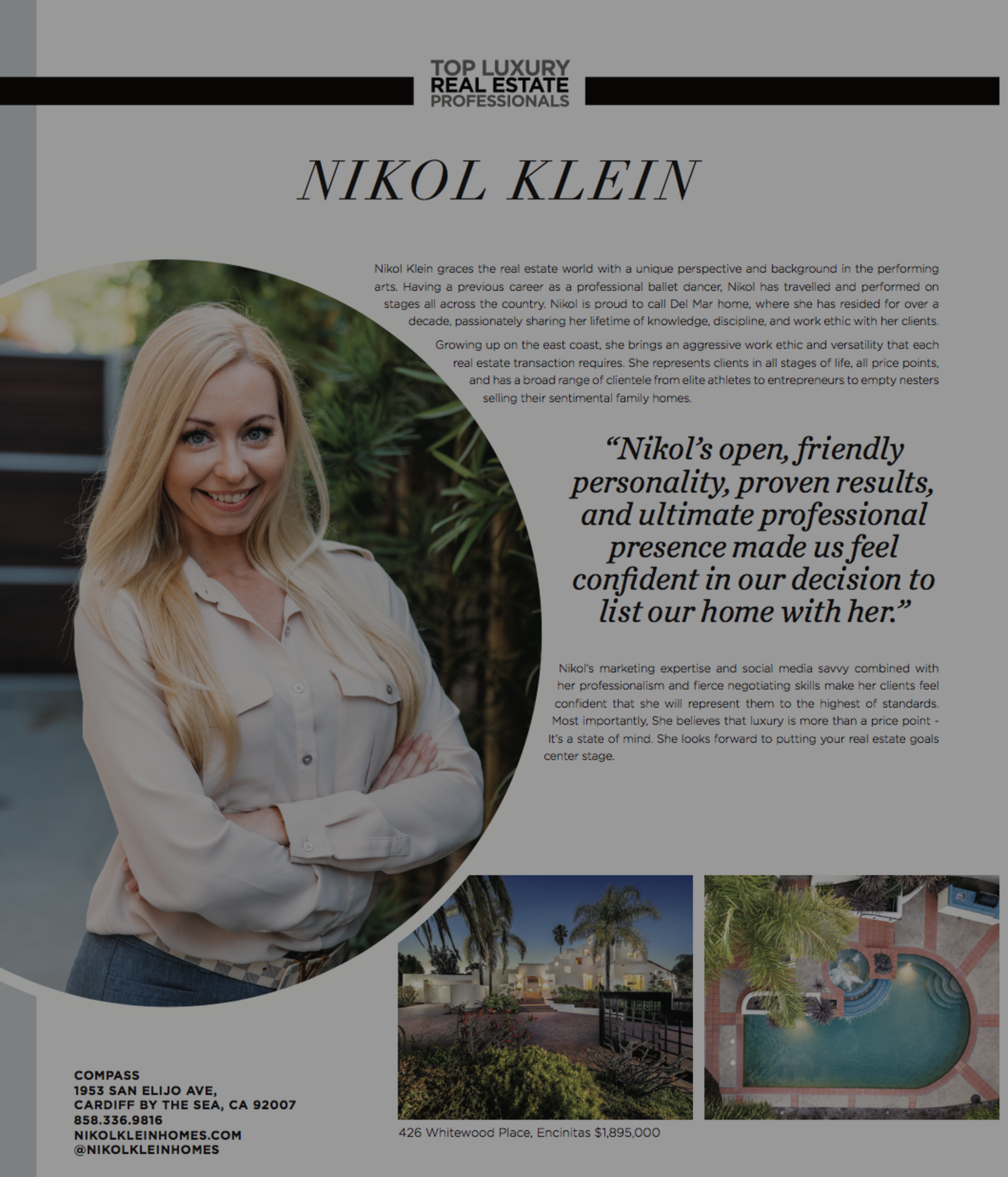 Nikol Klein Modern Luxury Feature