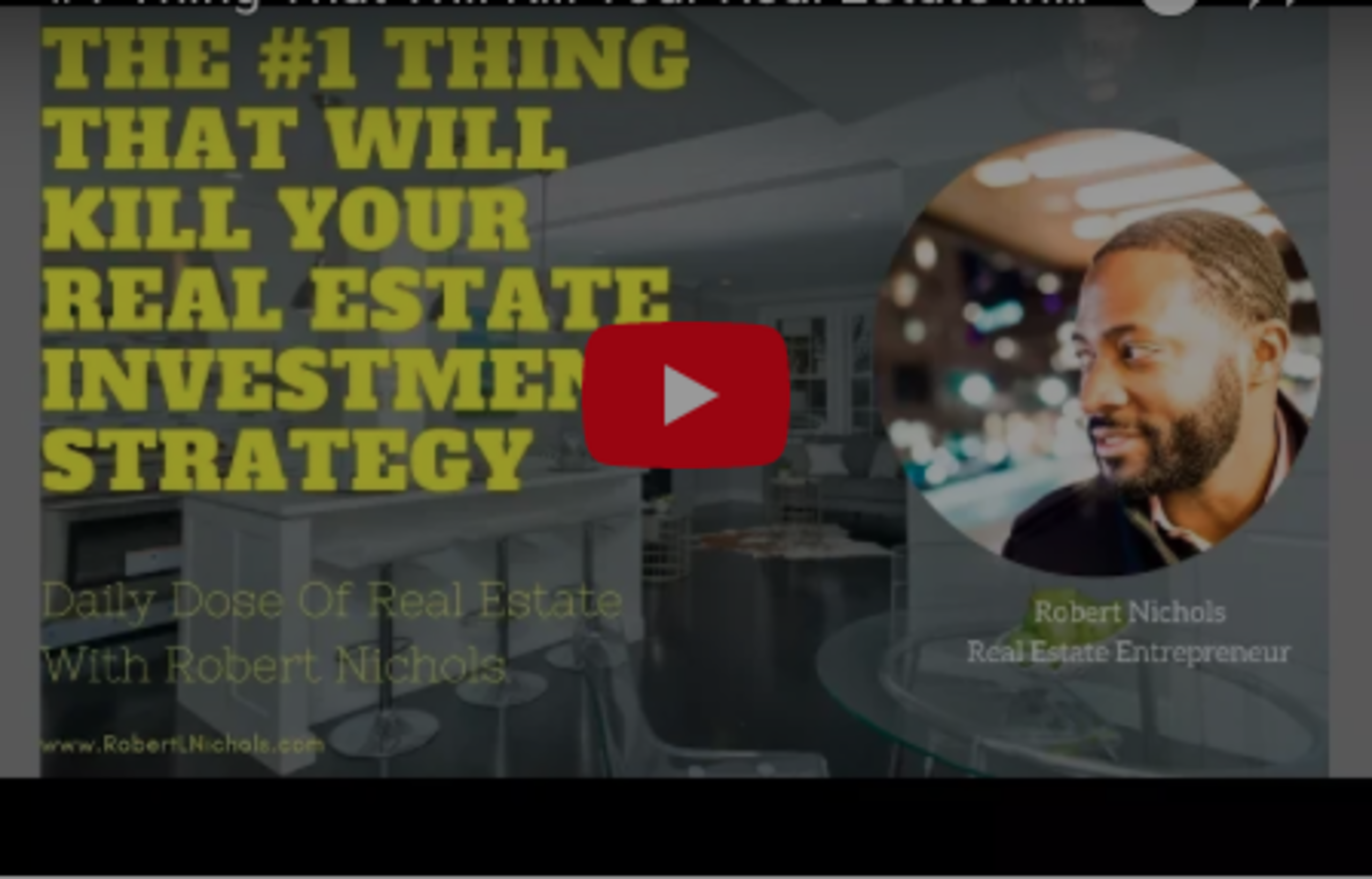 #1 Thing That Will Kill Your Real Estate Investment Strategy