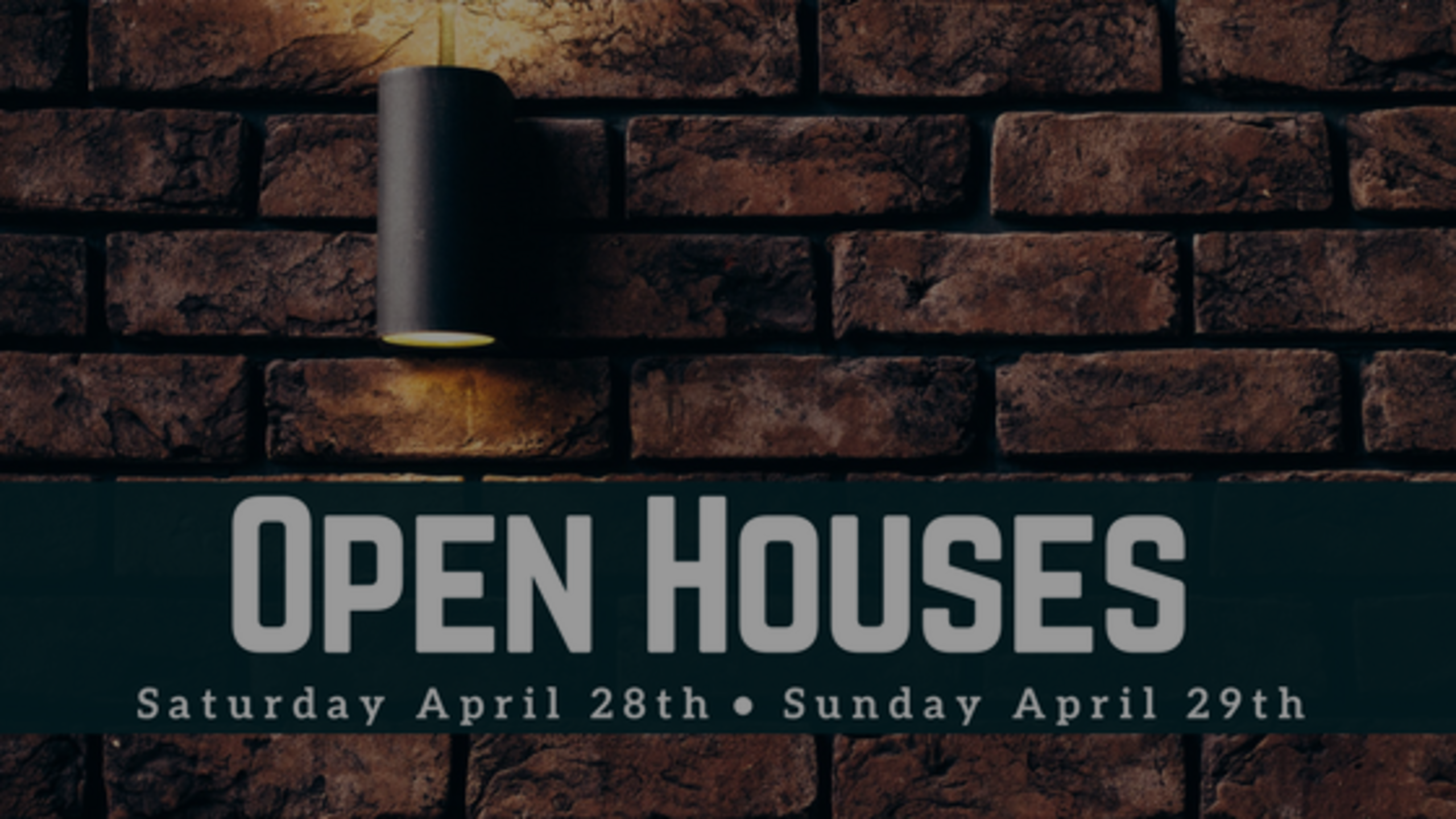 Our Open Houses: Weekend of 4/28 + 4/29
