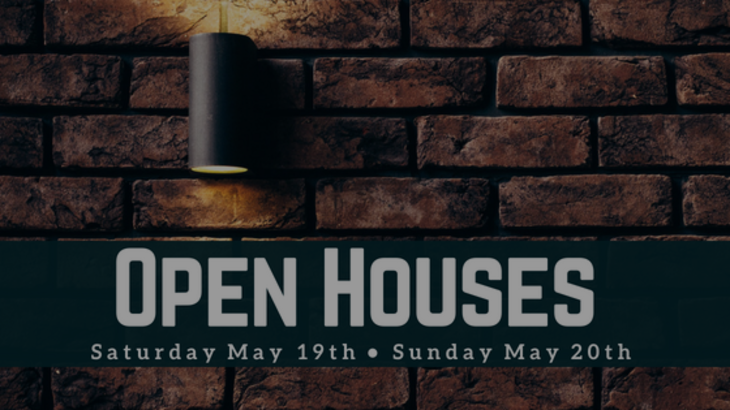 Our Open Houses: Weekend of 5/19 + 5/20