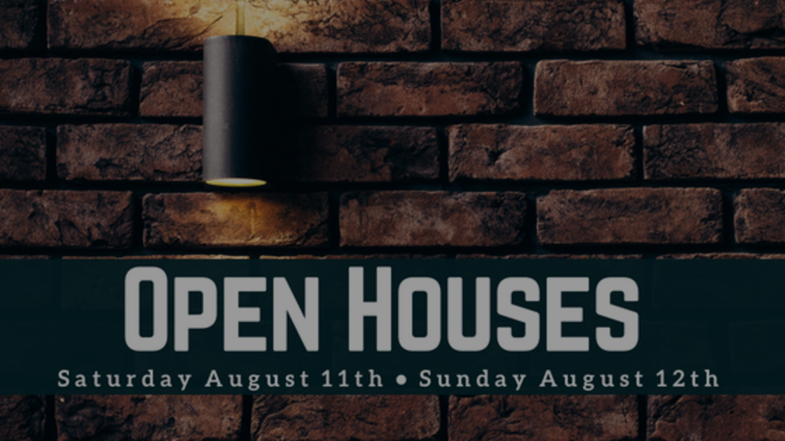 Our Open Houses: Weekend of 8/11 + 8/12