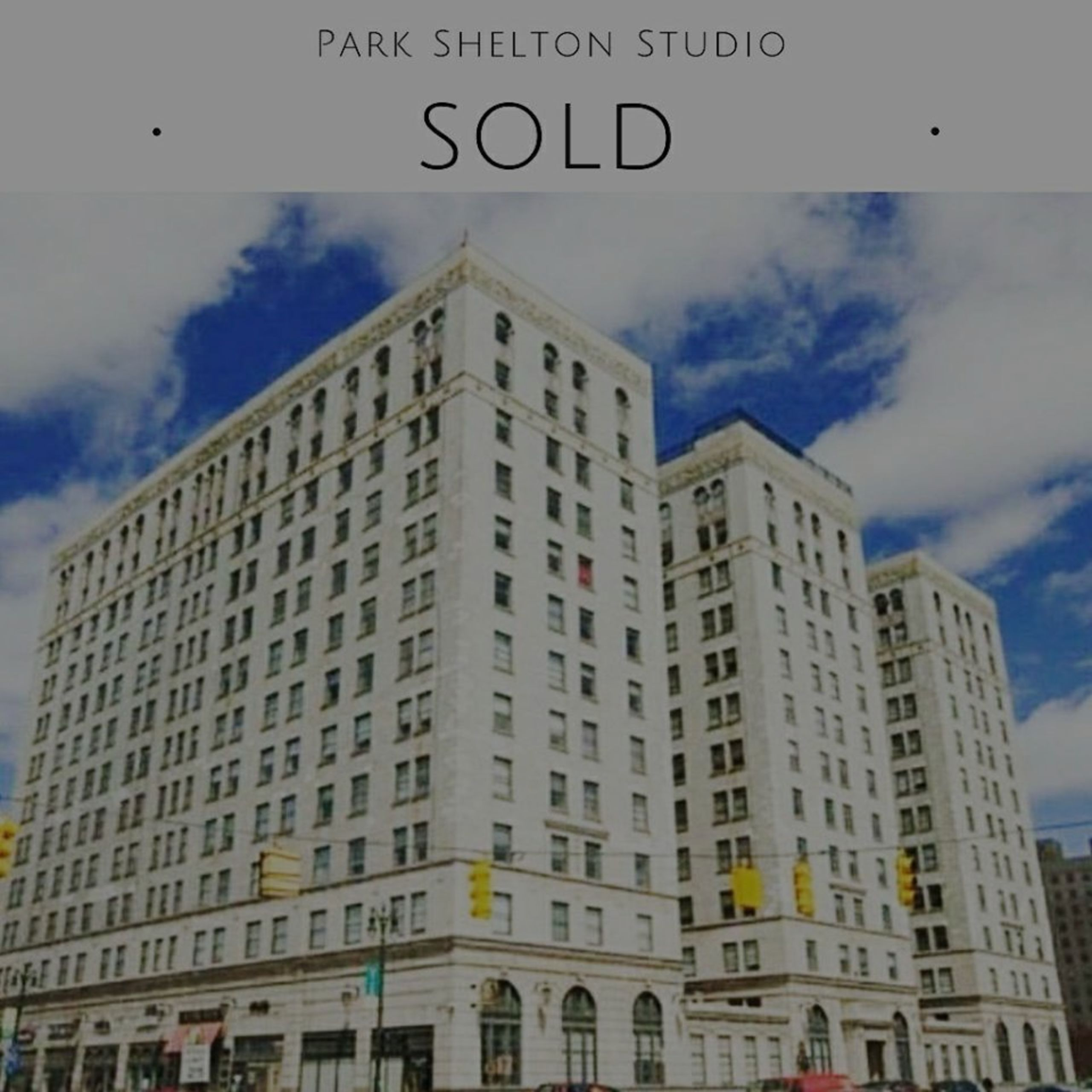 – SOLD – Gorgeous Detroit studio in the timeless Park Shelton building!