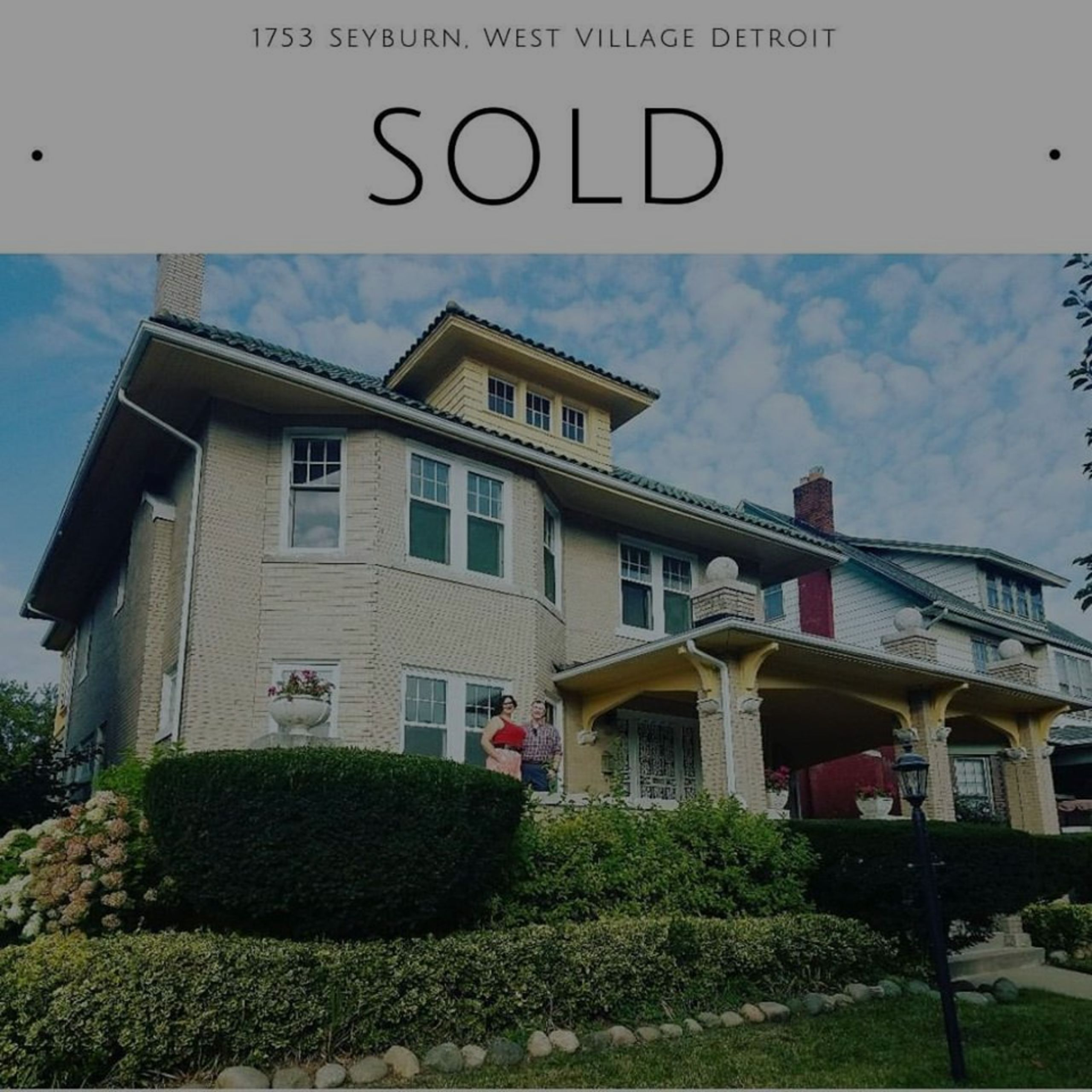 SOLD! Historic Home in West Village Detroit!