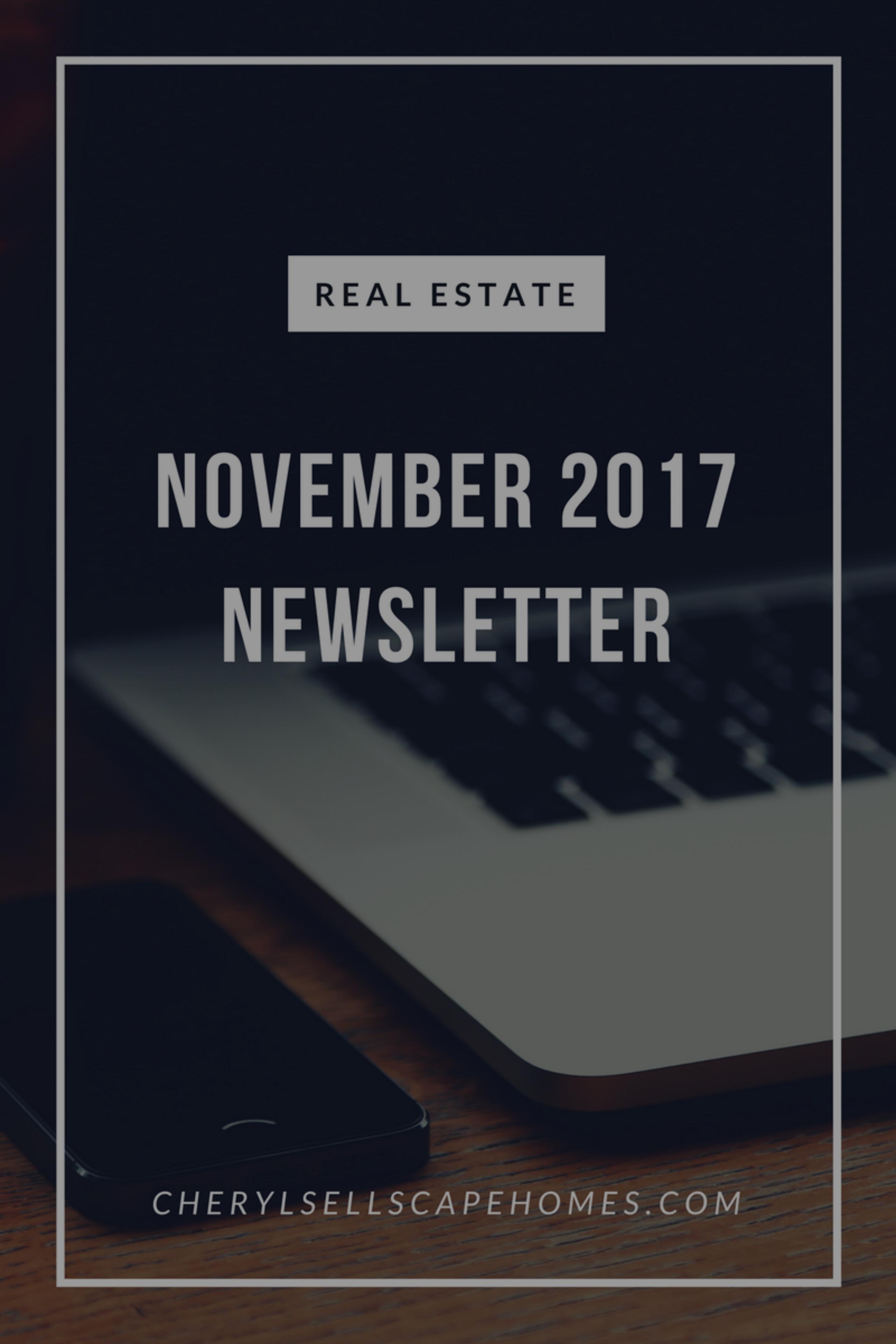 November 2017 real estate news for you