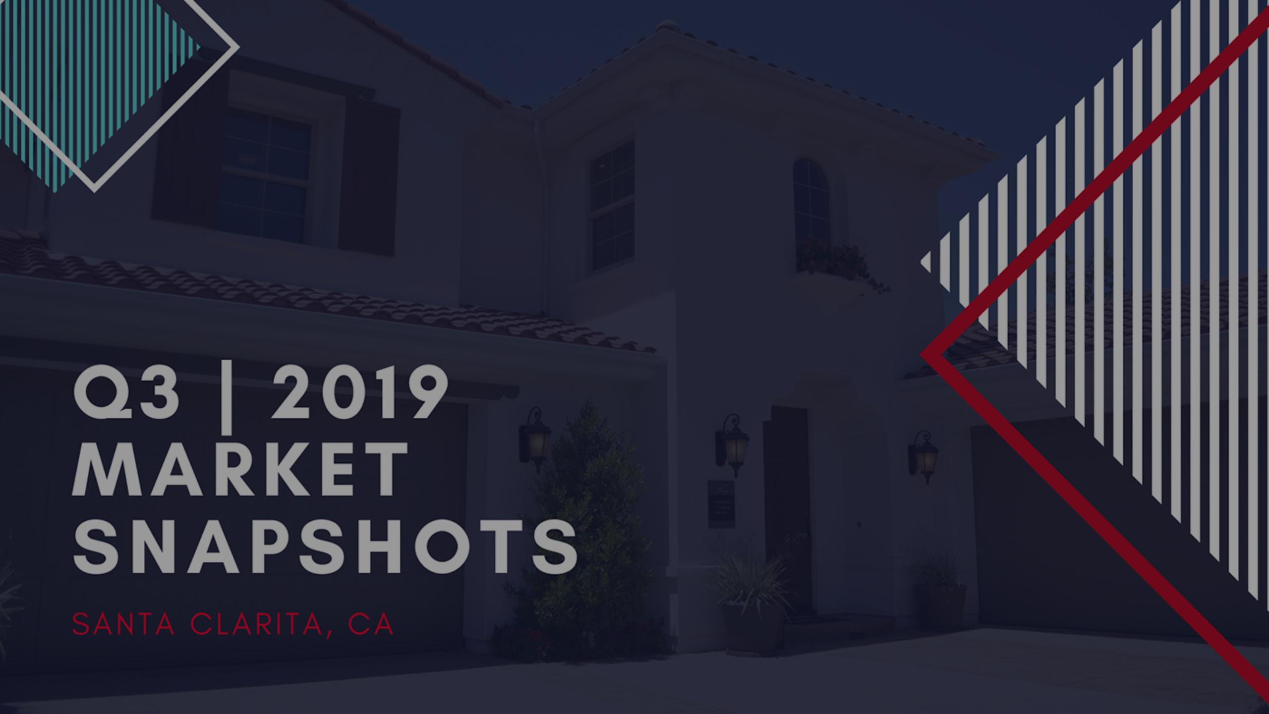 Q3 | 2019 -Real Estate Market Snapshots of Santa Clarita, Ca