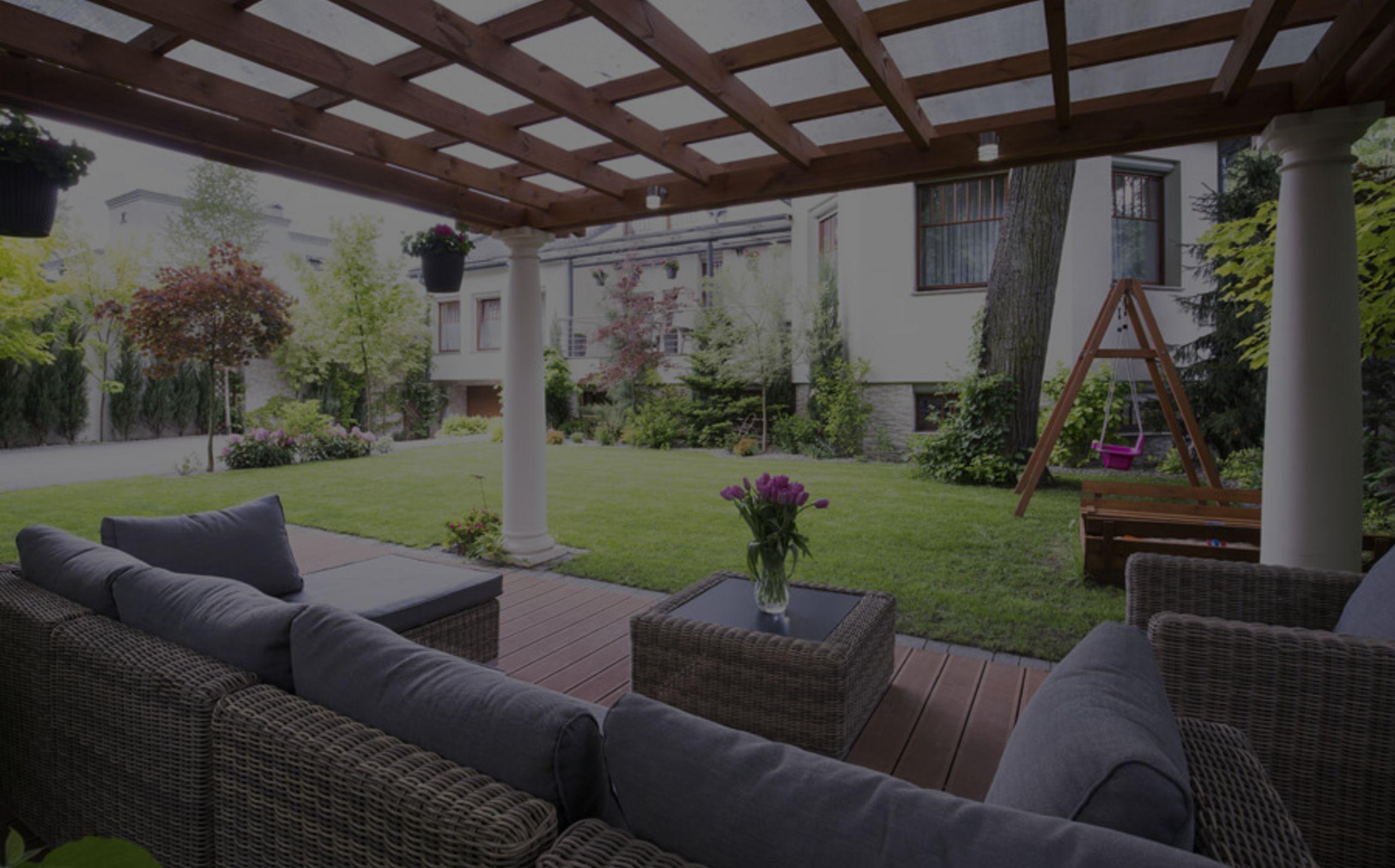 Relaxing outdoor spaces