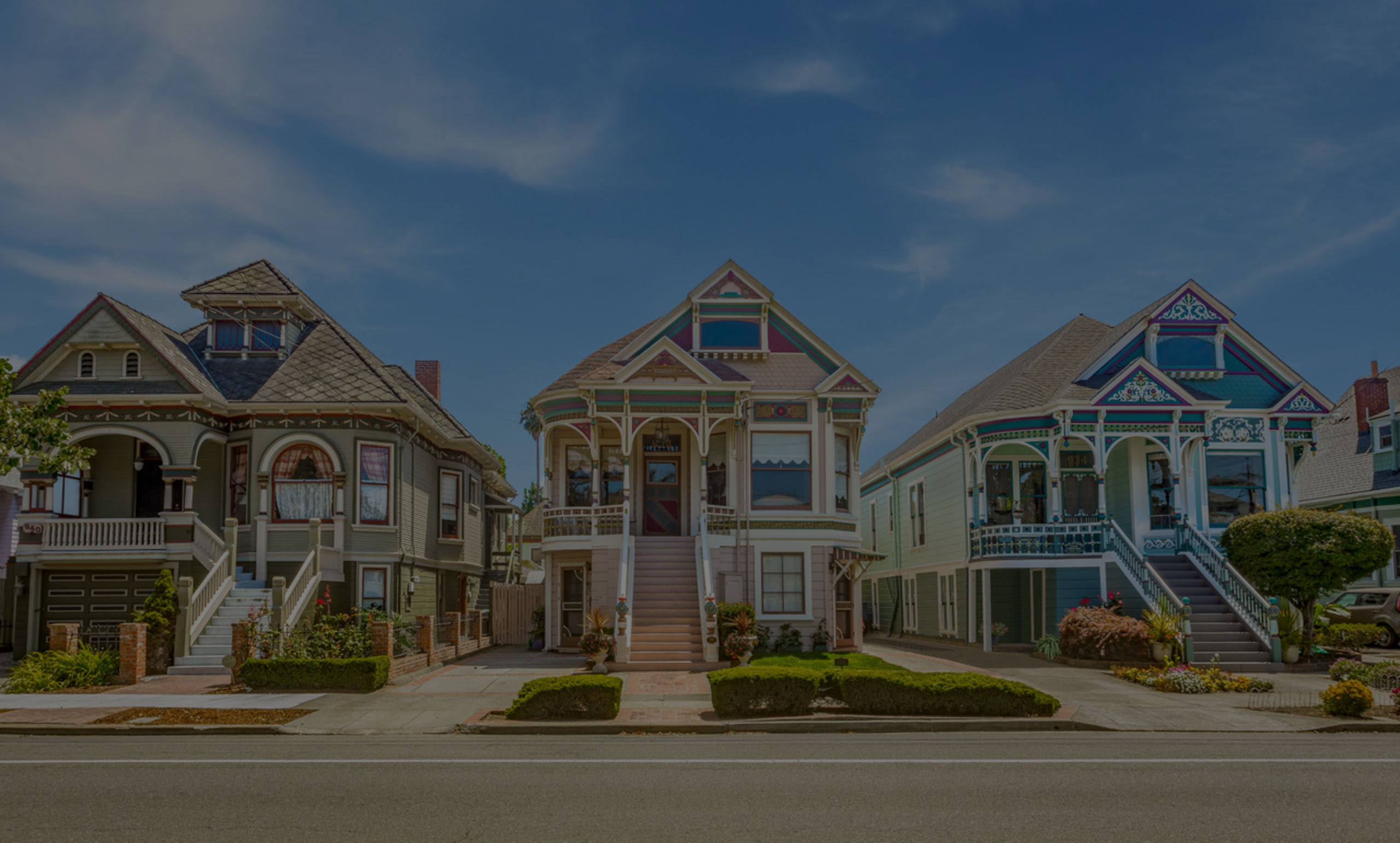 Queen Anne Victorian trio on Santa Clara