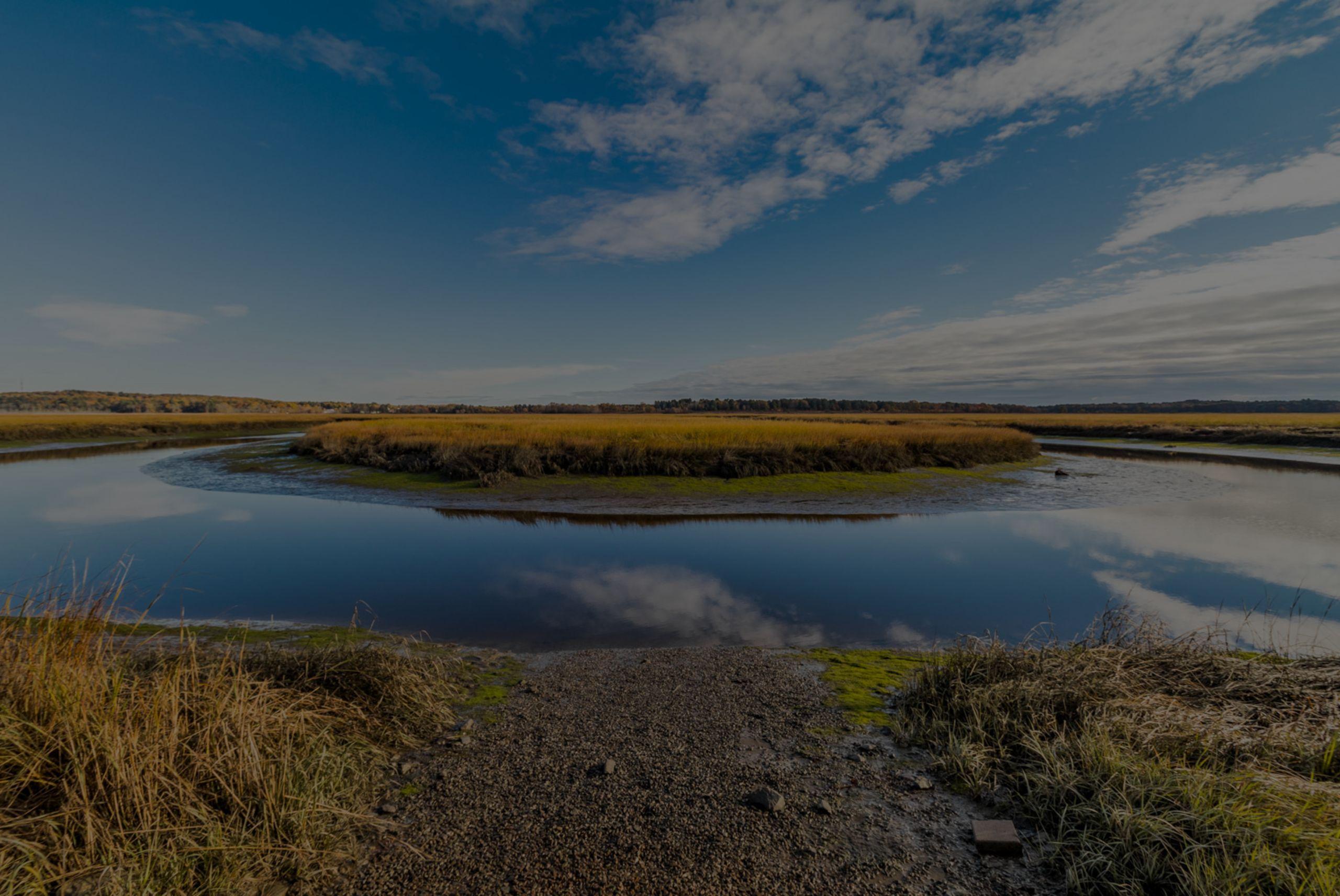 Launch you kayak: Scarborough Marsh