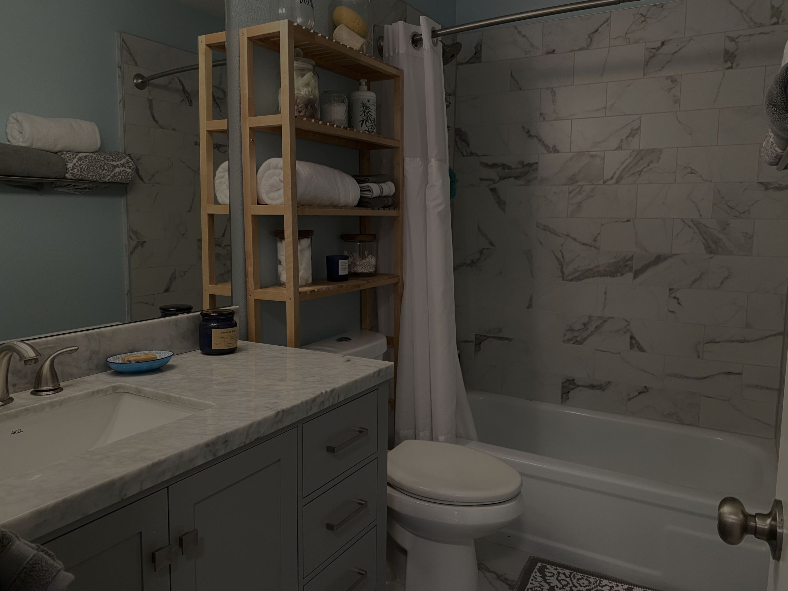 2nd full bath remodeled with family in mind